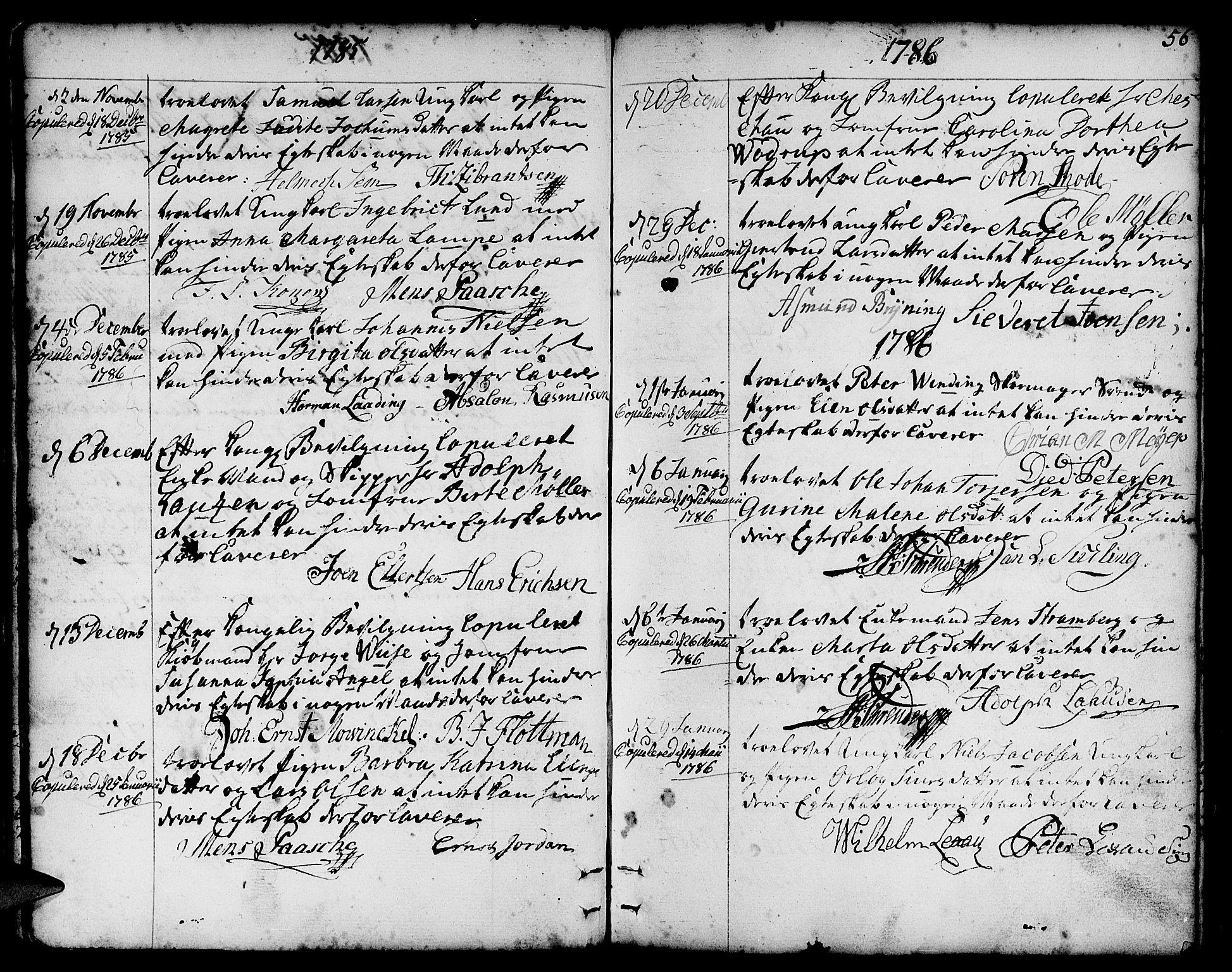 SAB, Nykirken Sokneprestembete, H/Haa: Ministerialbok nr. A 8, 1776-1814, s. 56