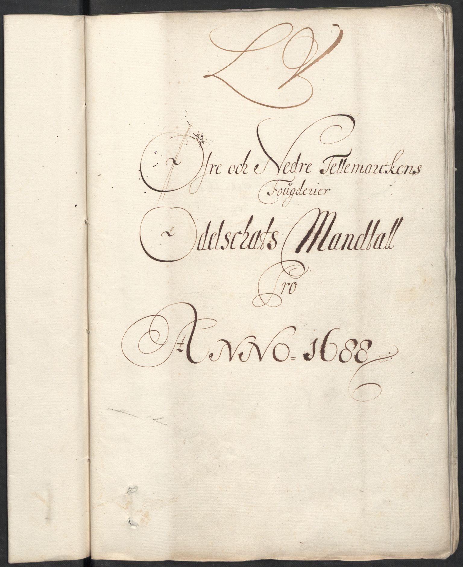 RA, Rentekammeret inntil 1814, Reviderte regnskaper, Fogderegnskap, R35/L2087: Fogderegnskap Øvre og Nedre Telemark, 1687-1689, s. 256