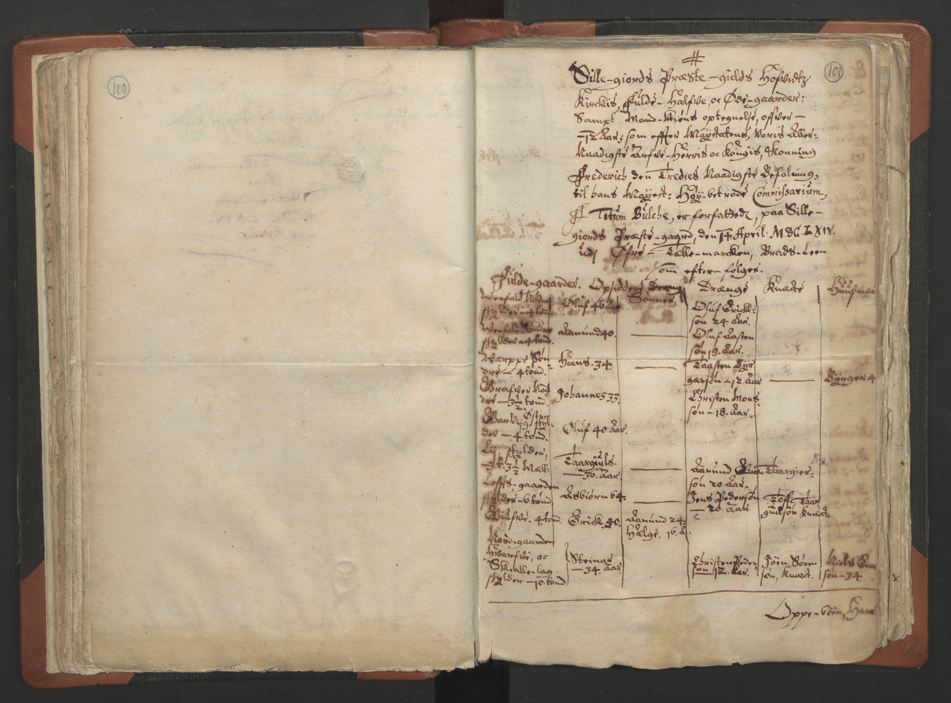 RA, Sogneprestenes manntall 1664-1666, nr. 12: Øvre Telemark prosti, Nedre Telemark prosti og Bamble prosti, 1664-1666, s. 100-101