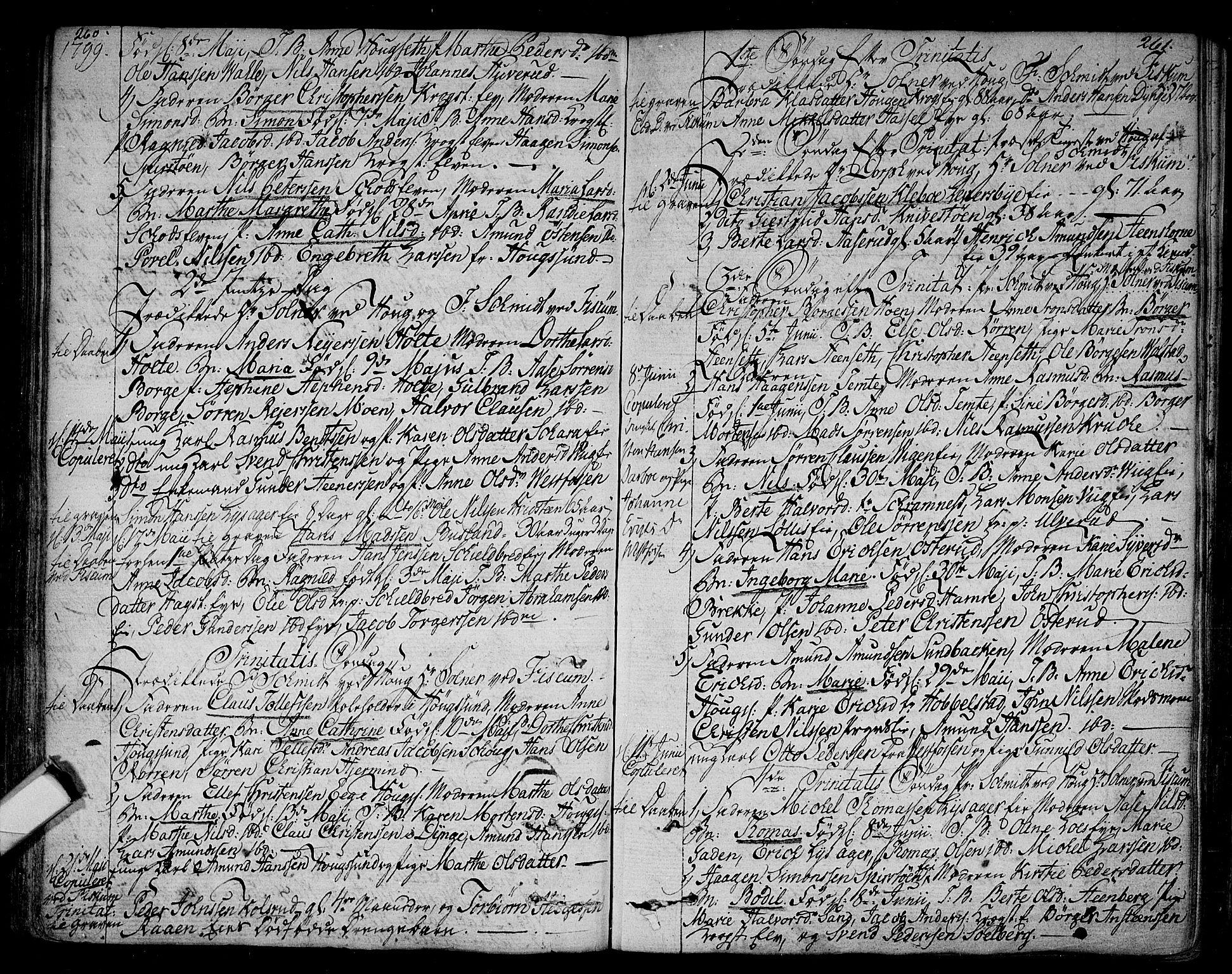 SAKO, Eiker kirkebøker, F/Fa/L0009: Ministerialbok nr. I 9, 1789-1806, s. 260-261