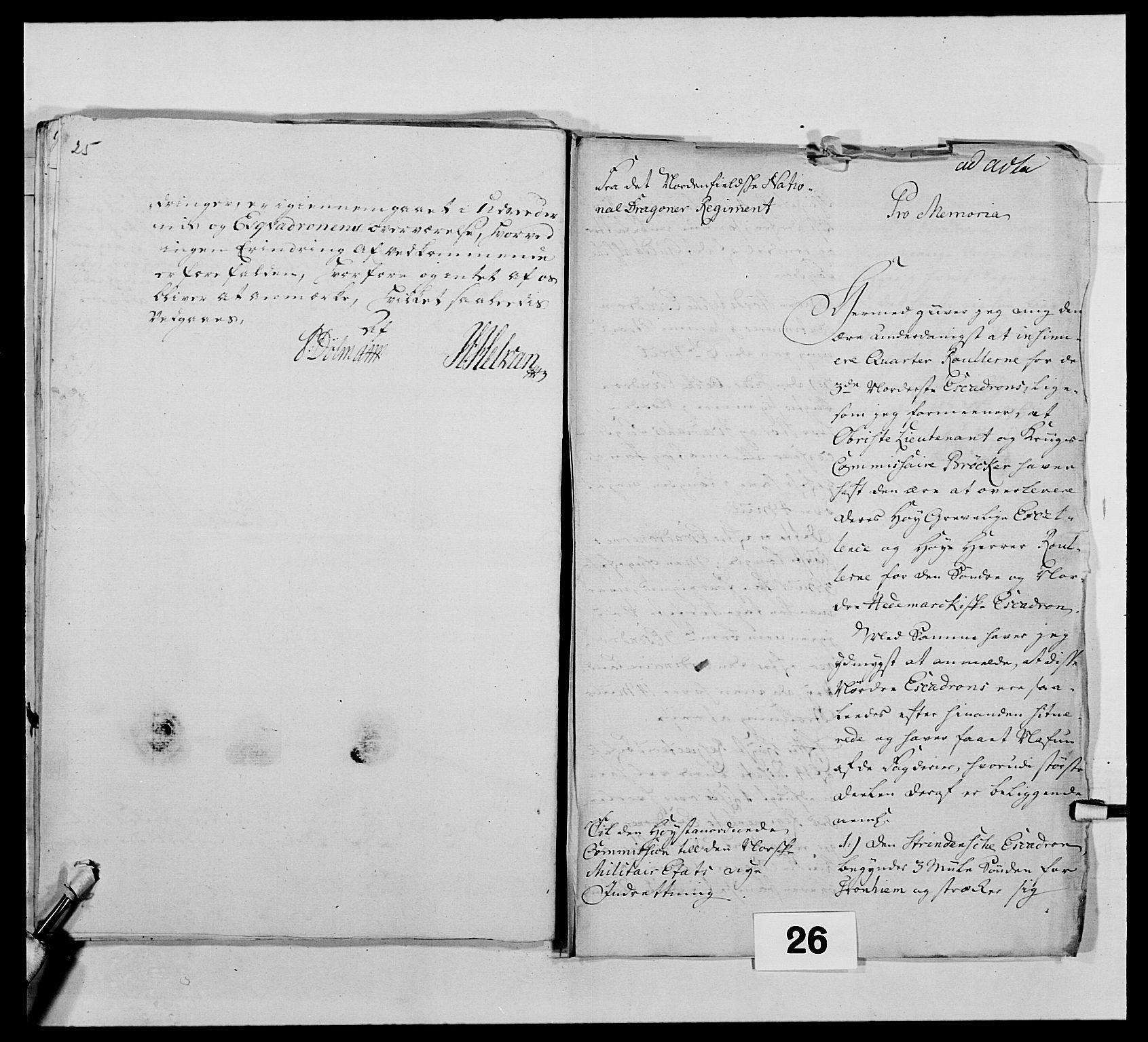 RA, Kommanderende general (KG I) med Det norske krigsdirektorium, E/Ea/L0483: Nordafjelske dragonregiment, 1765-1767, s. 637