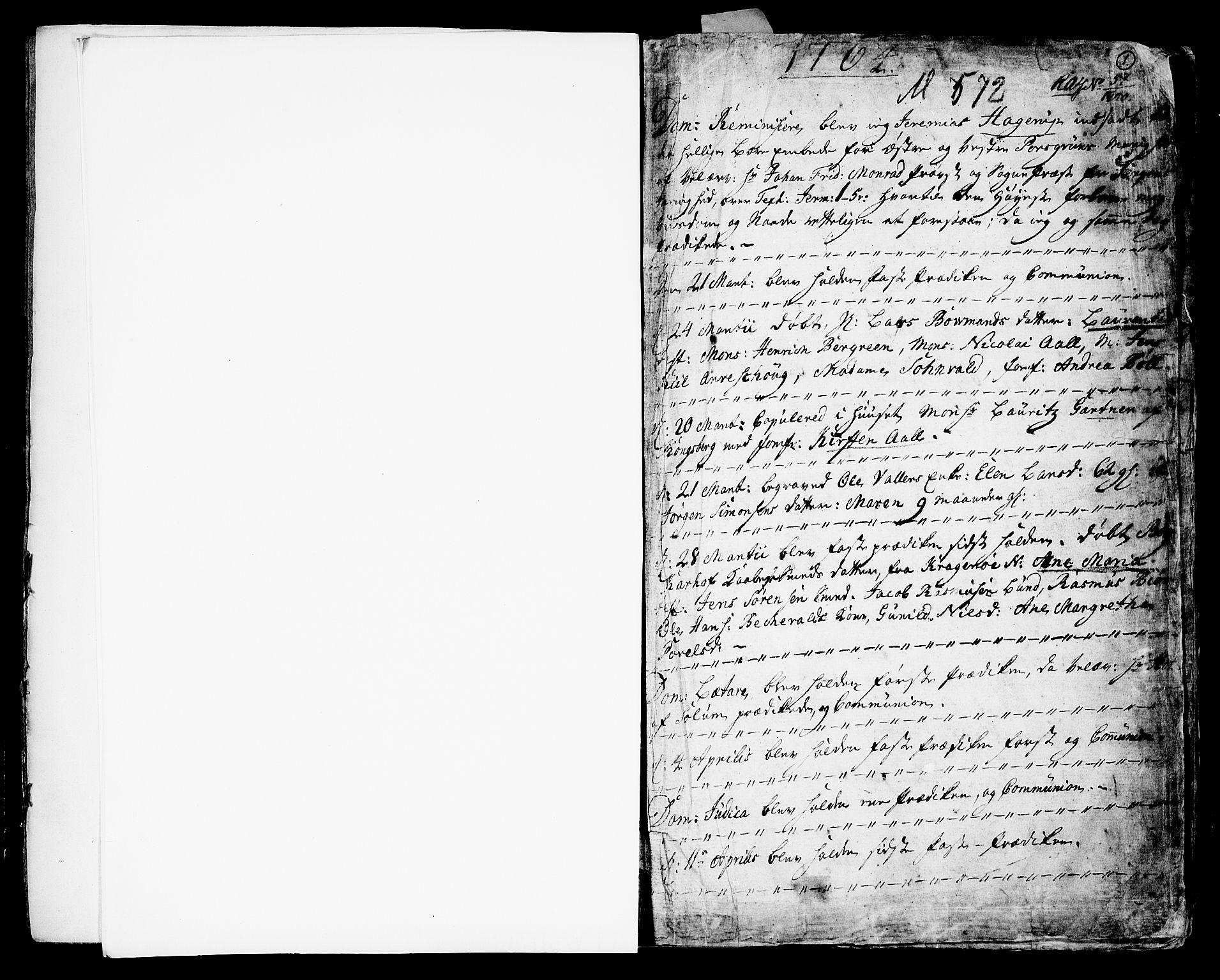 SAKO, Porsgrunn kirkebøker , F/Fa/L0002: Ministerialbok nr. 2, 1764-1814, s. 0-1