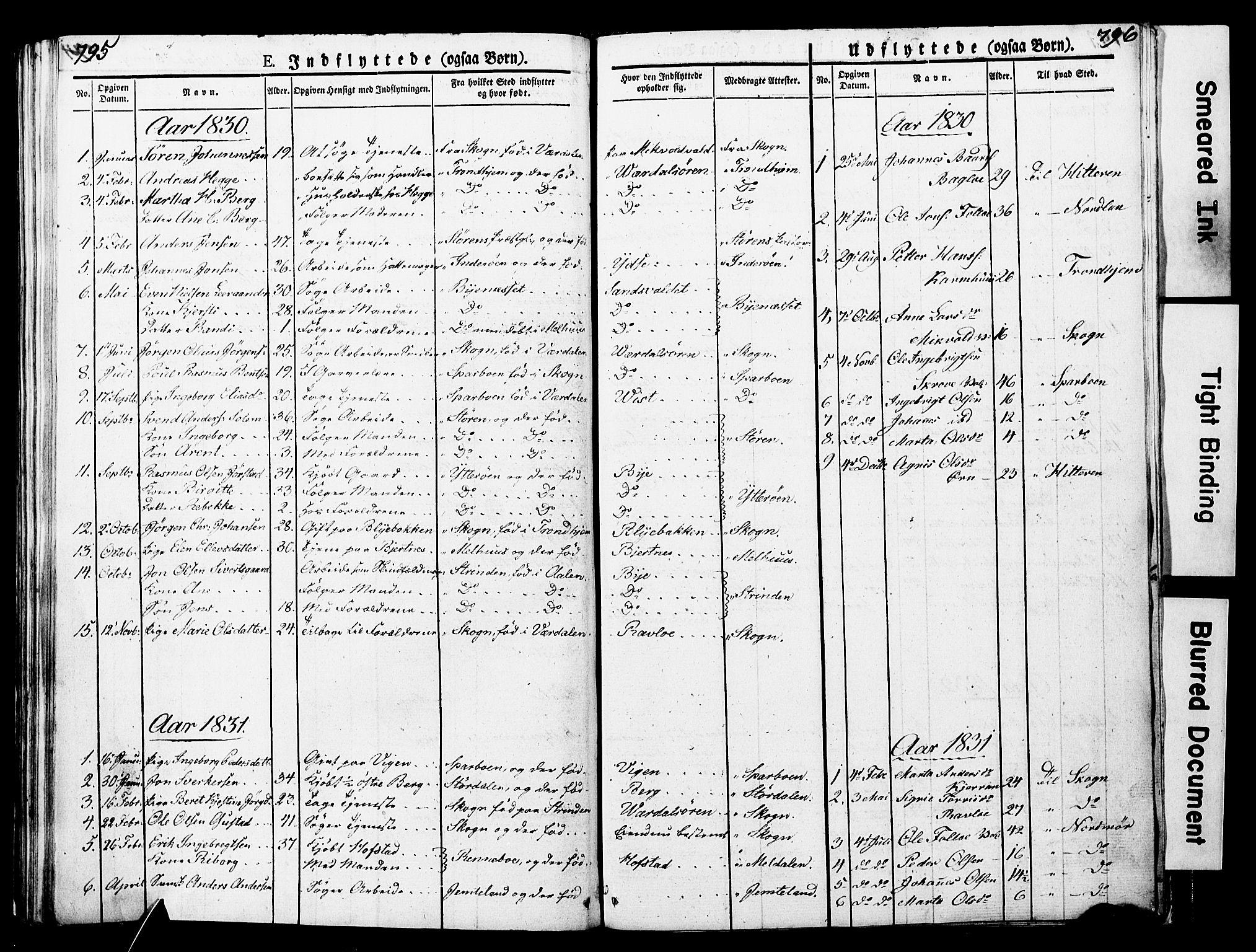 SAT, Ministerialprotokoller, klokkerbøker og fødselsregistre - Nord-Trøndelag, 723/L0243: Ministerialbok nr. 723A12, 1822-1851, s. 795-796