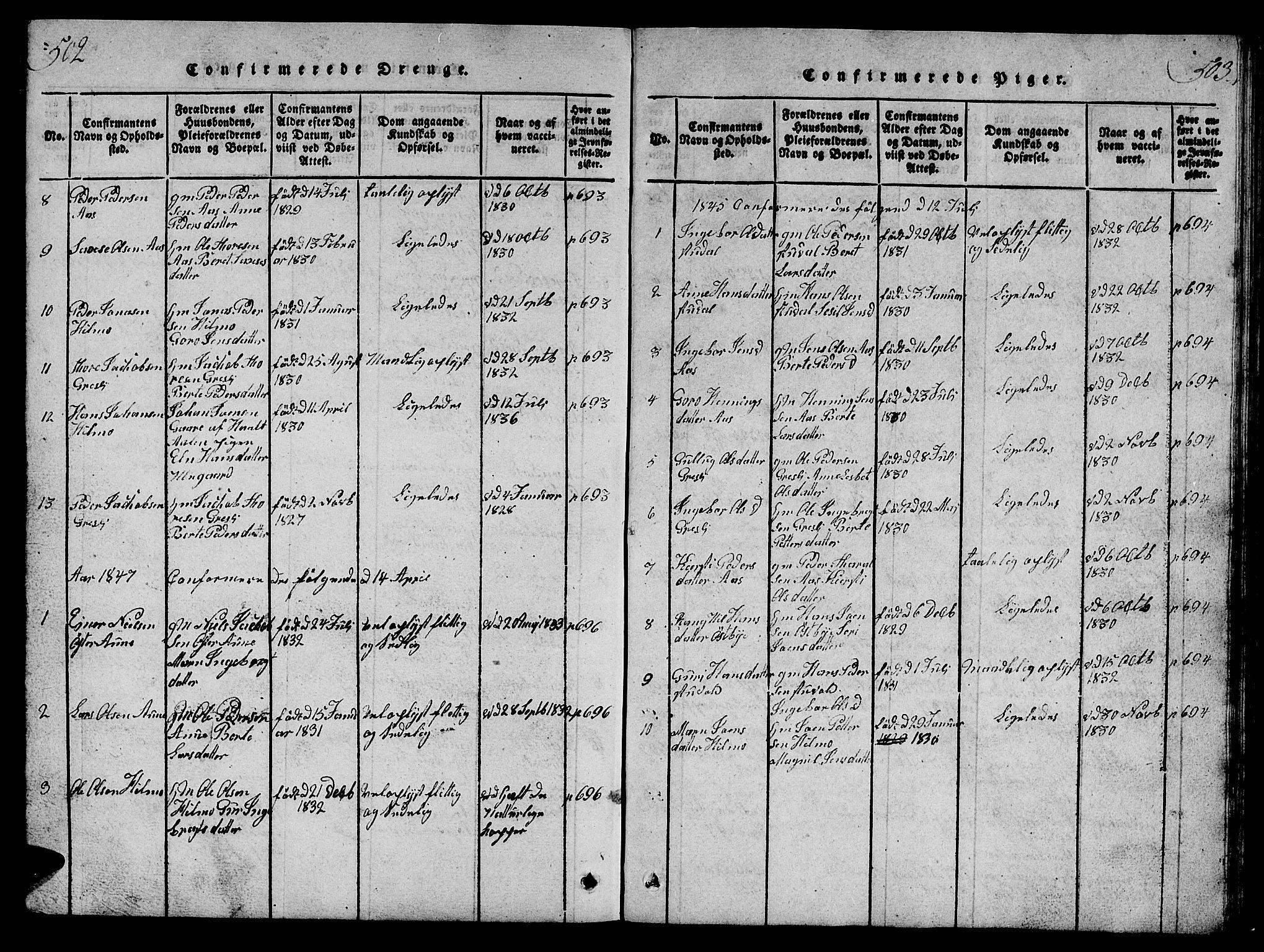 SAT, Ministerialprotokoller, klokkerbøker og fødselsregistre - Sør-Trøndelag, 698/L1164: Klokkerbok nr. 698C01, 1816-1861, s. 502-503
