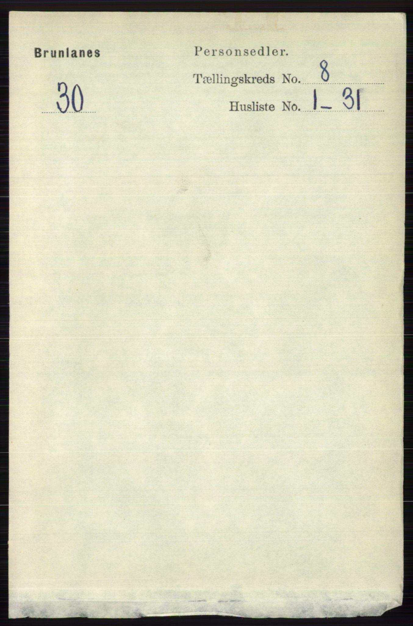RA, Folketelling 1891 for 0726 Brunlanes herred, 1891, s. 3572