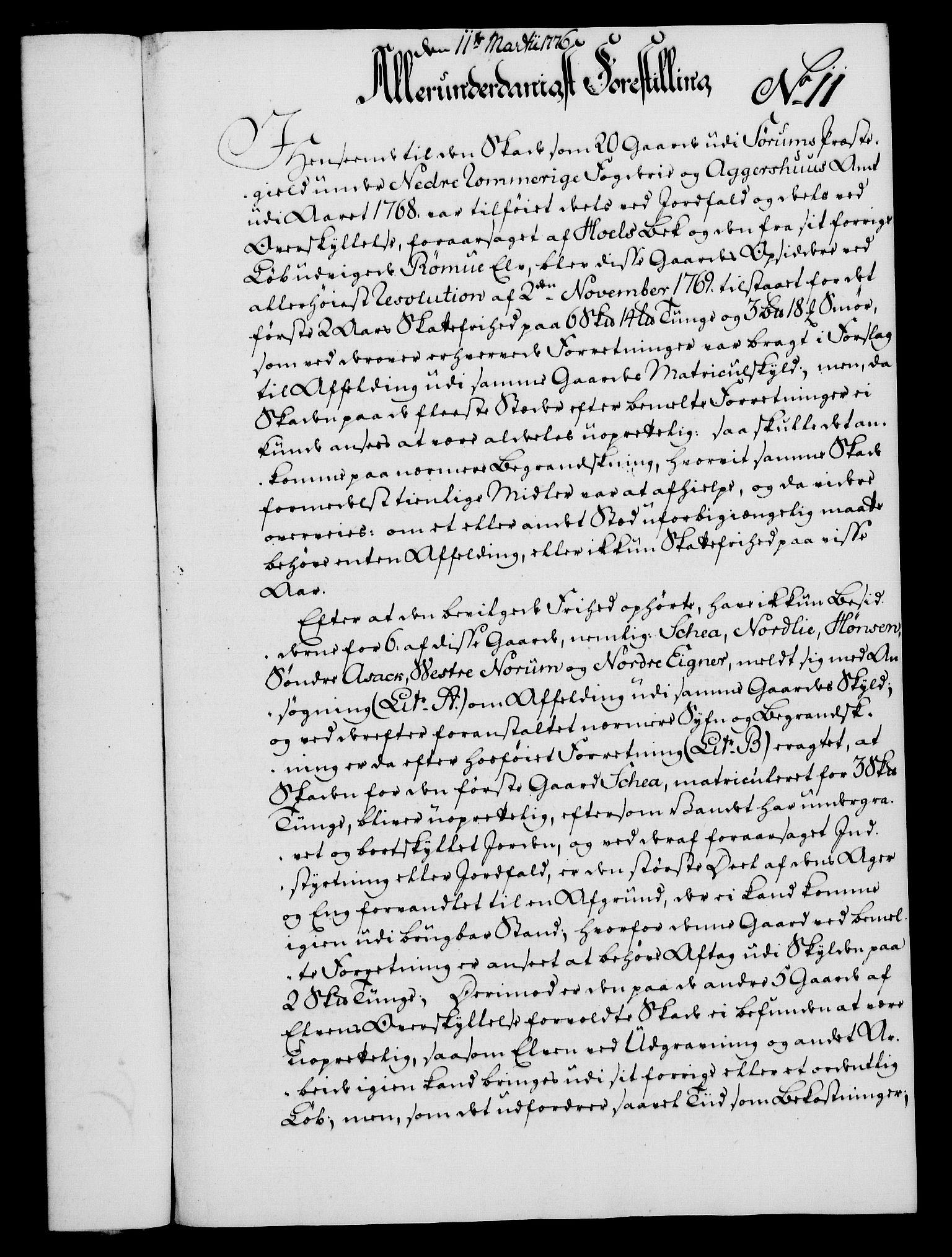 RA, Rentekammeret, Kammerkanselliet, G/Gf/Gfa/L0058: Norsk relasjons- og resolusjonsprotokoll (merket RK 52.58), 1776, s. 67