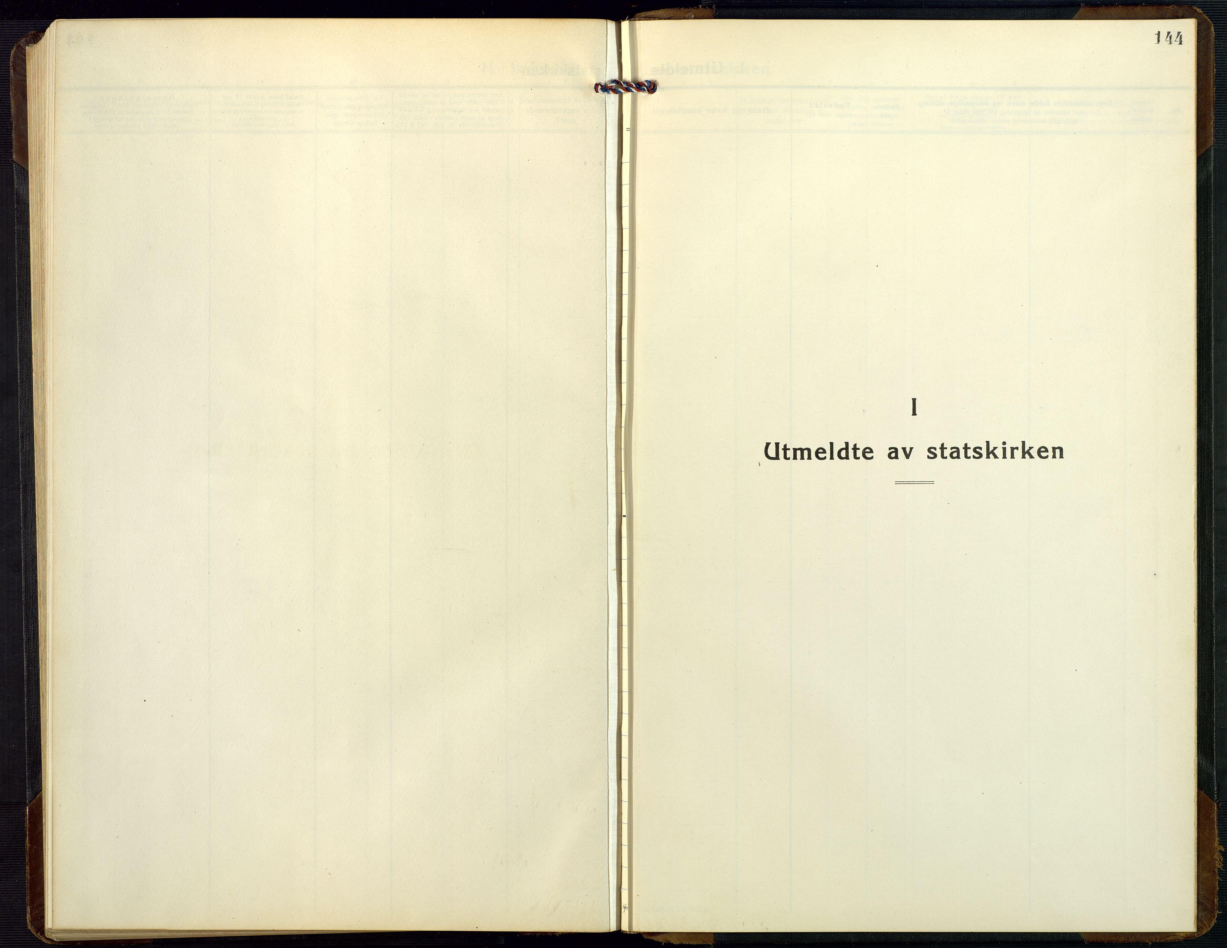SAK, Dypvåg sokneprestkontor, F/Fb/Fbb/L0006: Klokkerbok nr. B 6, 1925-1954, s. 144