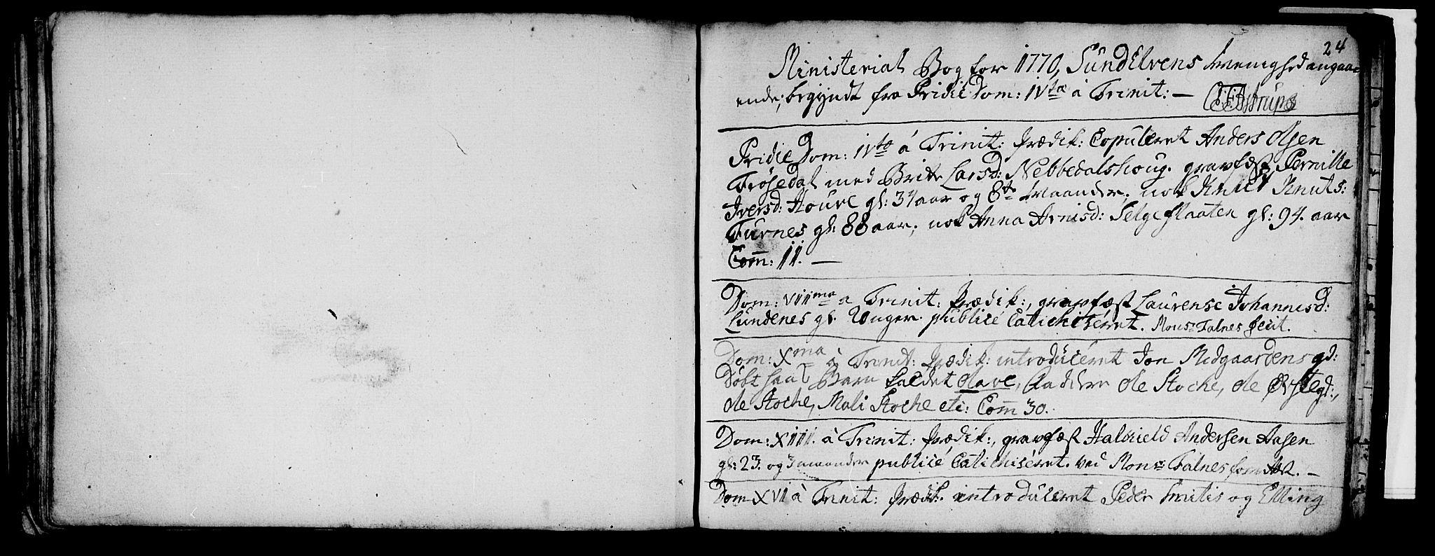 SAT, Ministerialprotokoller, klokkerbøker og fødselsregistre - Møre og Romsdal, 519/L0244: Ministerialbok nr. 519A03, 1769-1773, s. 24