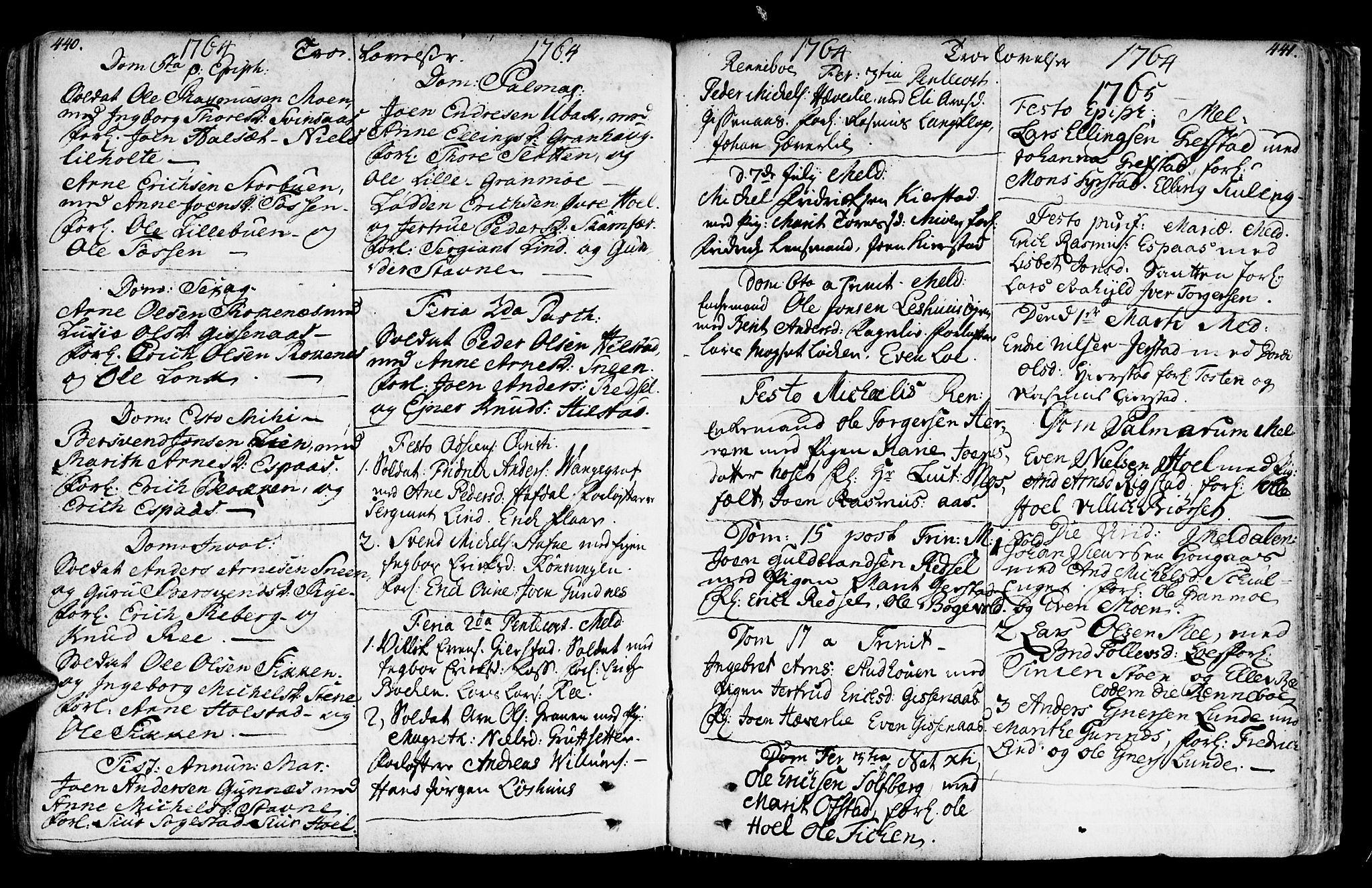 SAT, Ministerialprotokoller, klokkerbøker og fødselsregistre - Sør-Trøndelag, 672/L0851: Ministerialbok nr. 672A04, 1751-1775, s. 440-441