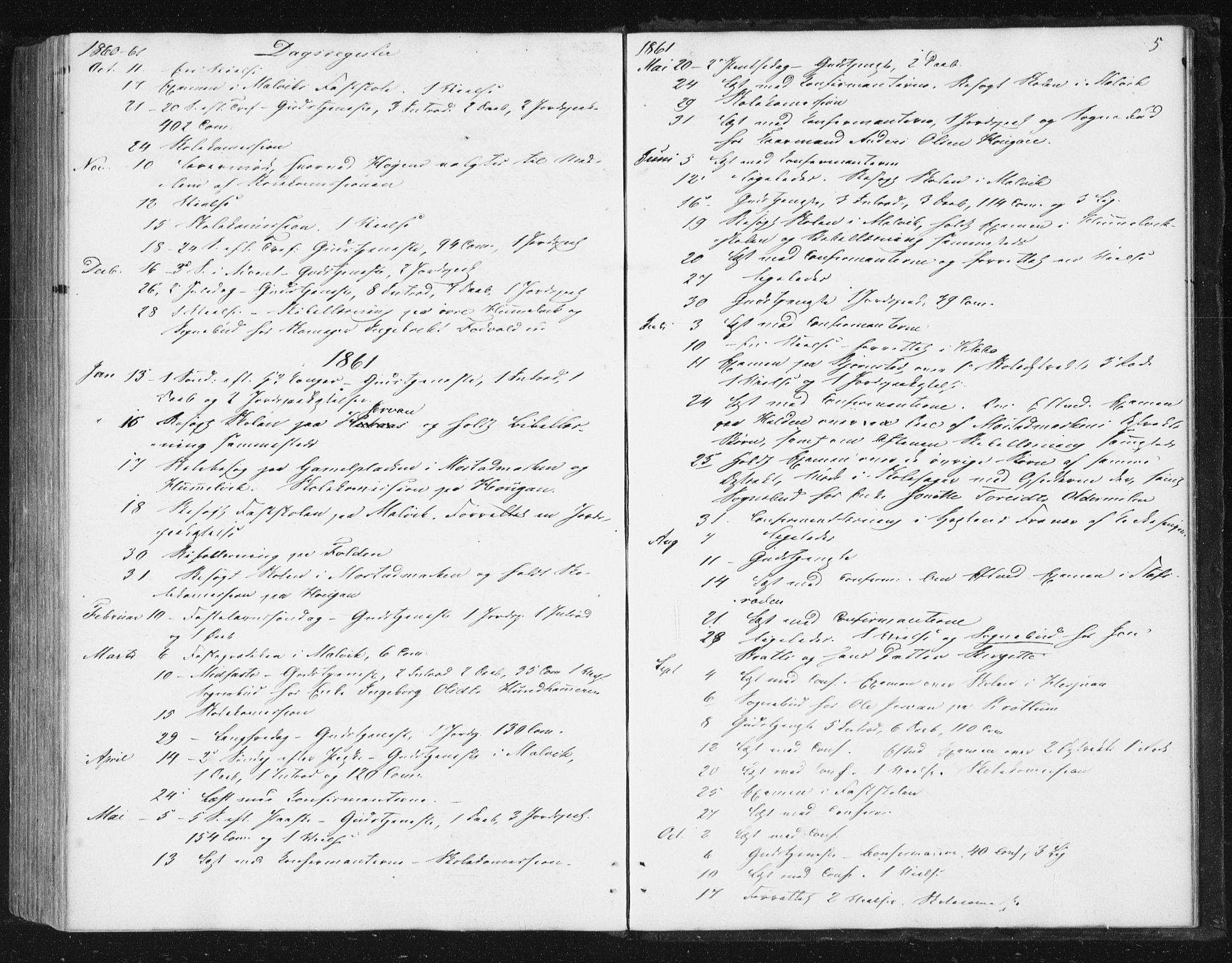SAT, Ministerialprotokoller, klokkerbøker og fødselsregistre - Sør-Trøndelag, 616/L0408: Ministerialbok nr. 616A05, 1857-1865, s. 5