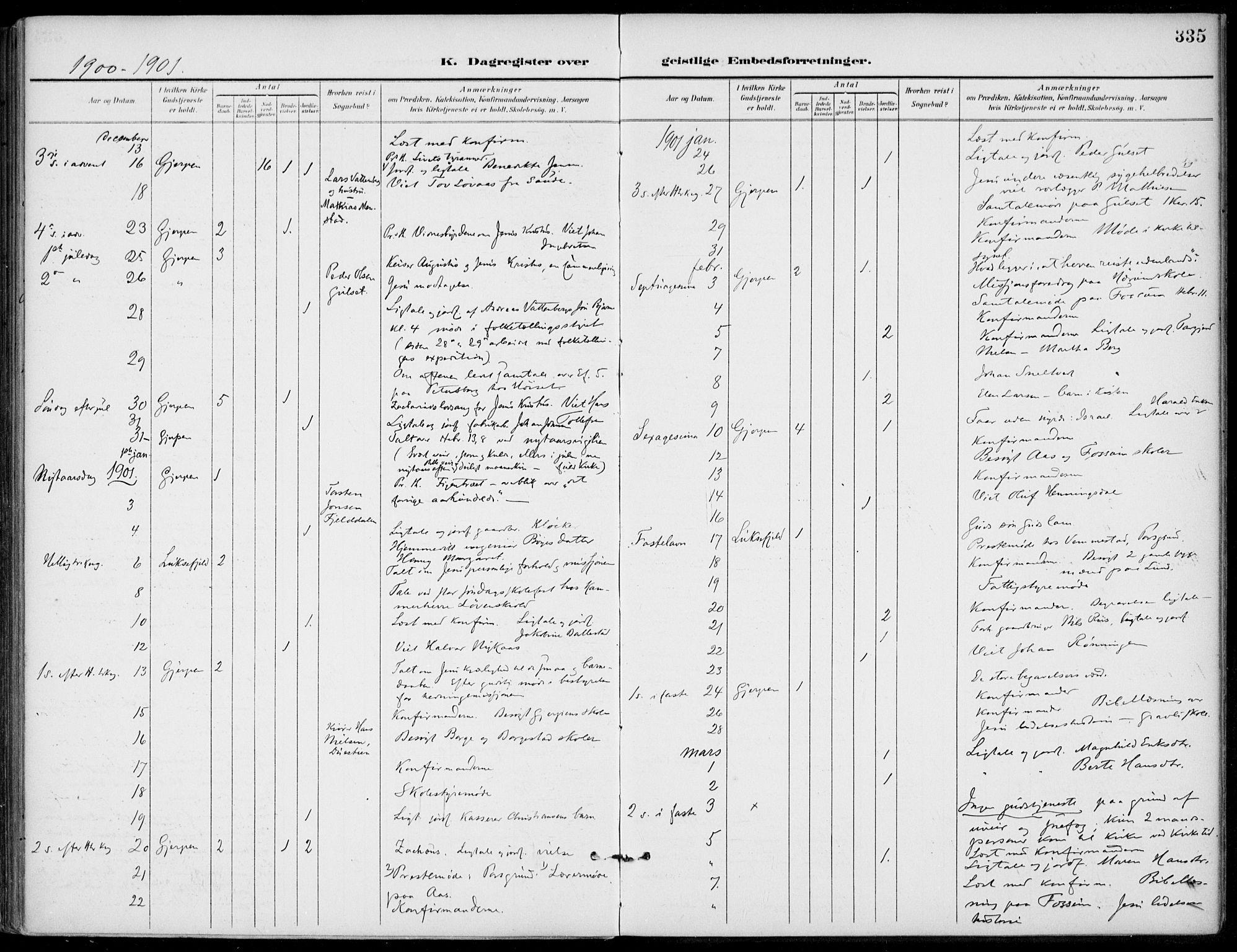 SAKO, Gjerpen kirkebøker, F/Fa/L0011: Ministerialbok nr. 11, 1896-1904, s. 335