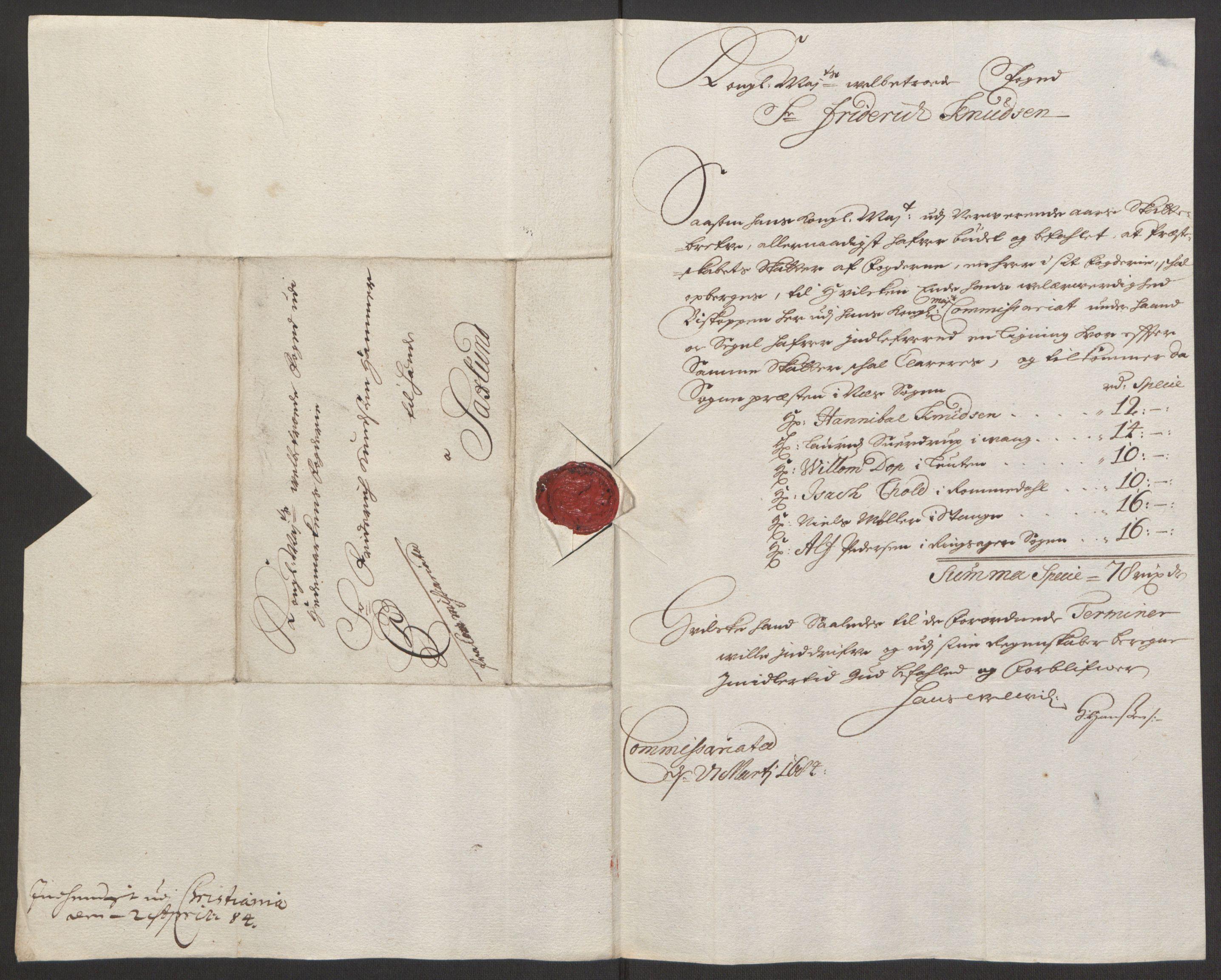 RA, Rentekammeret inntil 1814, Reviderte regnskaper, Fogderegnskap, R16/L1034: Fogderegnskap Hedmark, 1693, s. 96