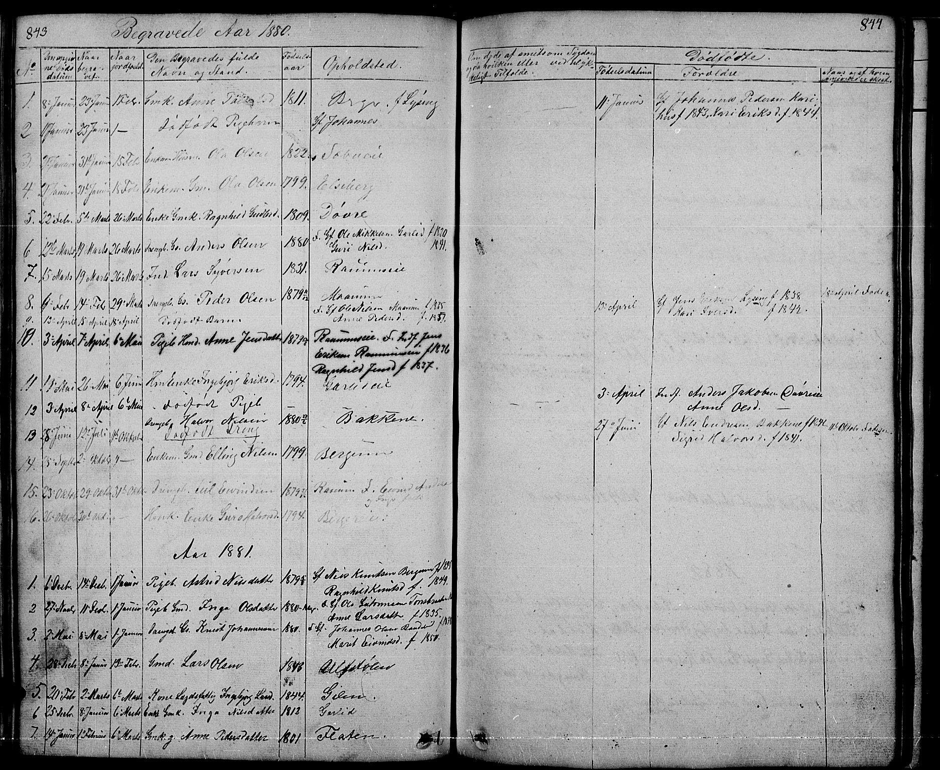 SAH, Nord-Aurdal prestekontor, Klokkerbok nr. 1, 1834-1887, s. 843-844