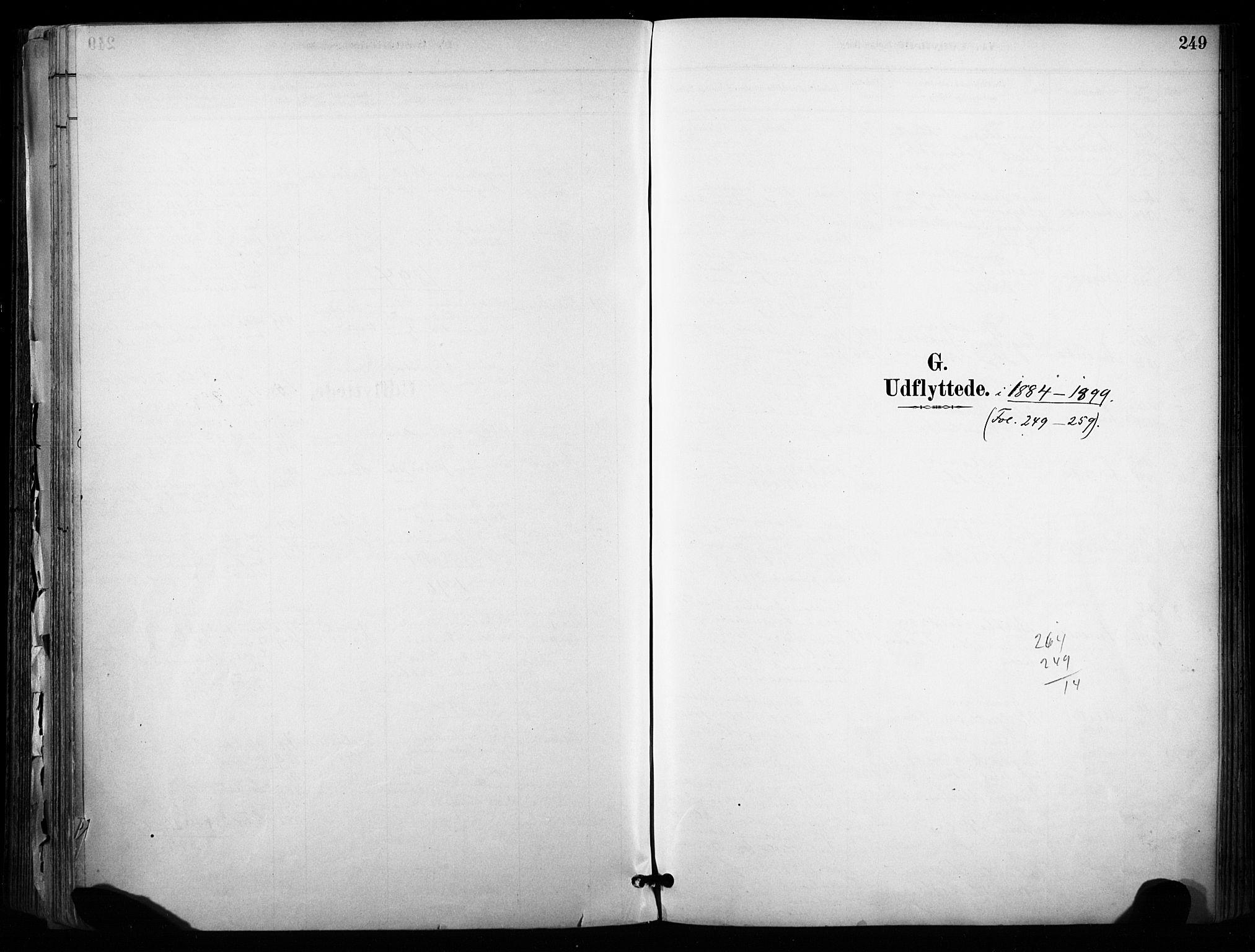 SAKO, Sannidal kirkebøker, F/Fa/L0015: Ministerialbok nr. 15, 1884-1899, s. 249