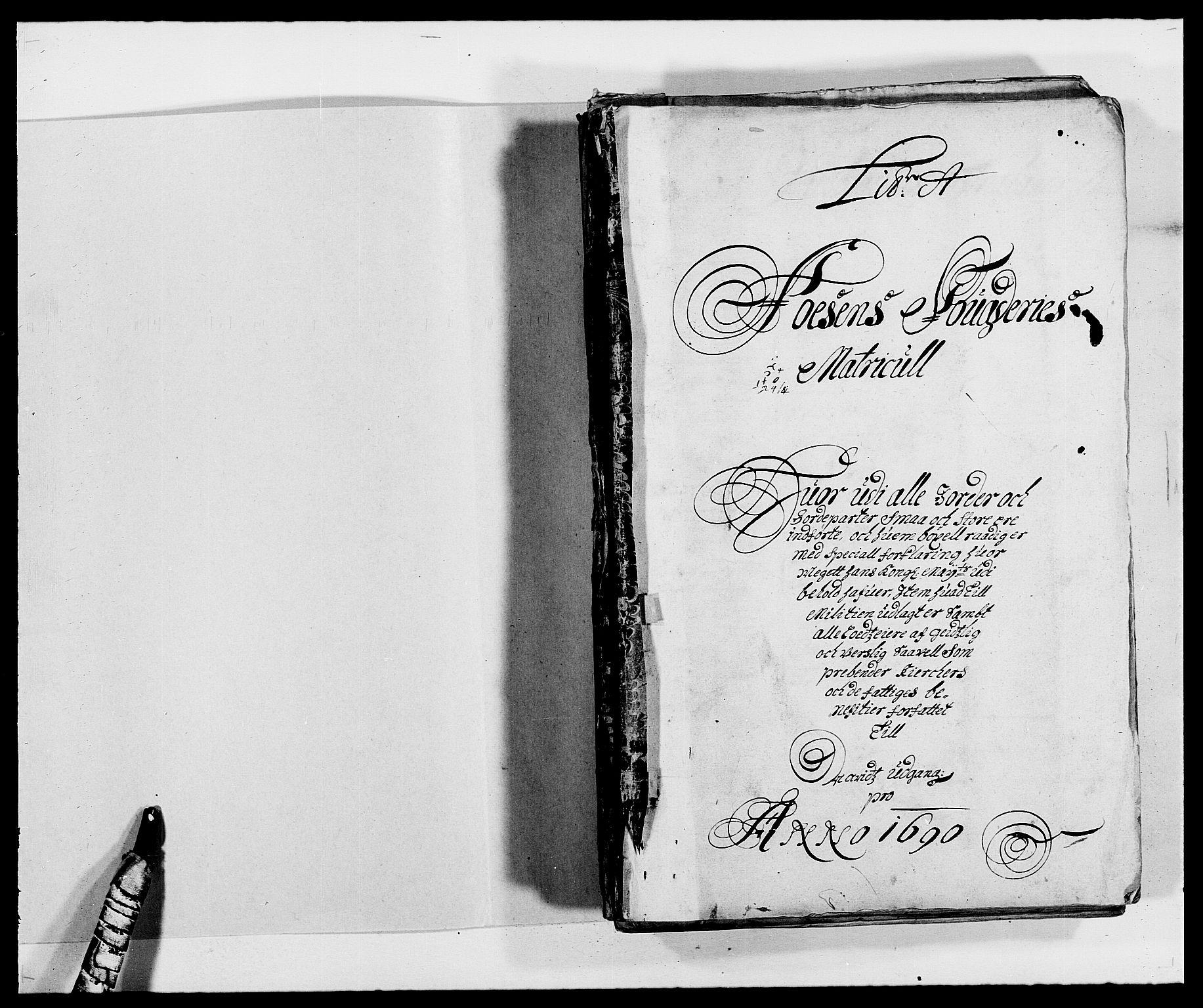 RA, Rentekammeret inntil 1814, Reviderte regnskaper, Fogderegnskap, R57/L3848: Fogderegnskap Fosen, 1690-1691, s. 12
