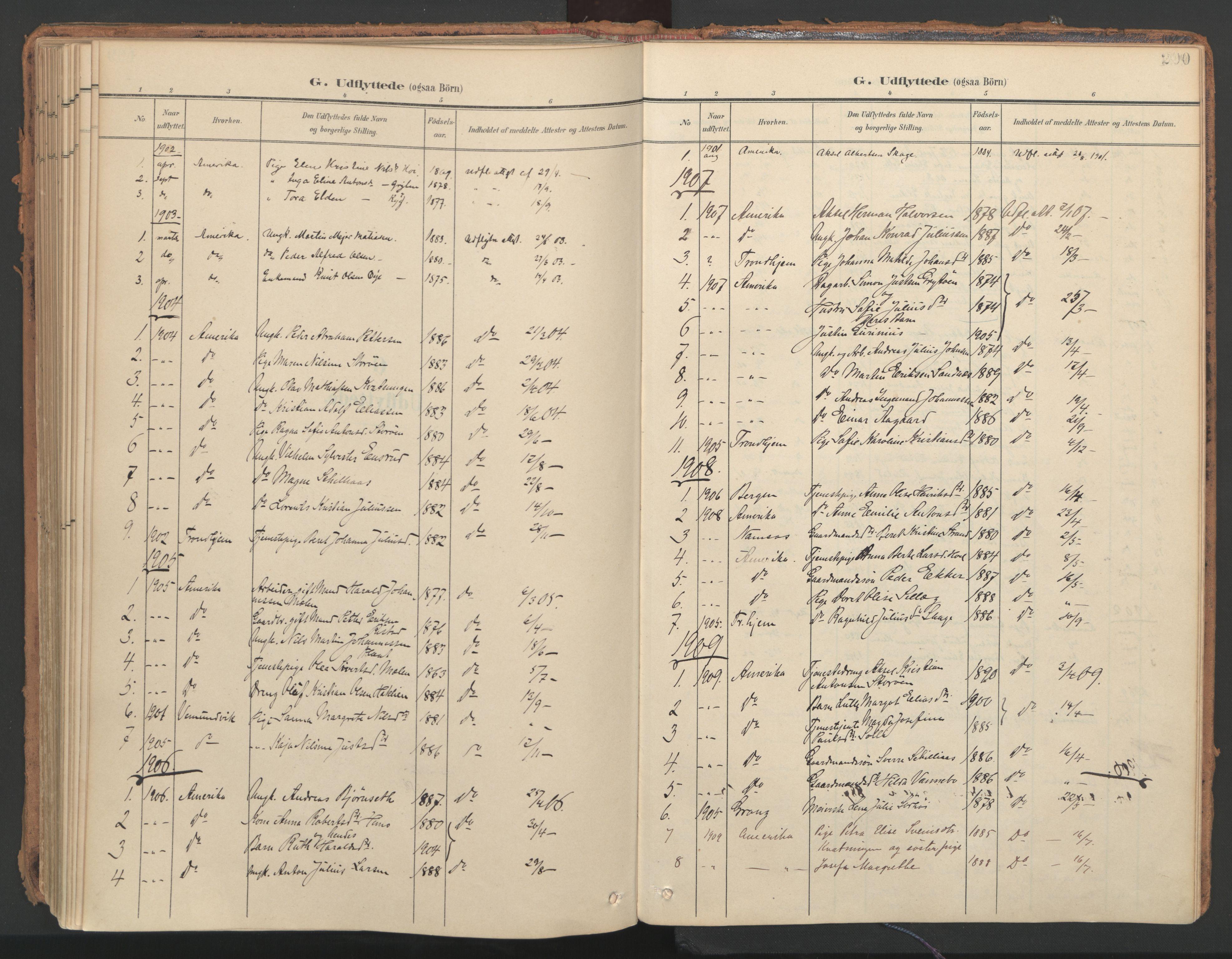 SAT, Ministerialprotokoller, klokkerbøker og fødselsregistre - Nord-Trøndelag, 766/L0564: Ministerialbok nr. 767A02, 1900-1932, s. 200