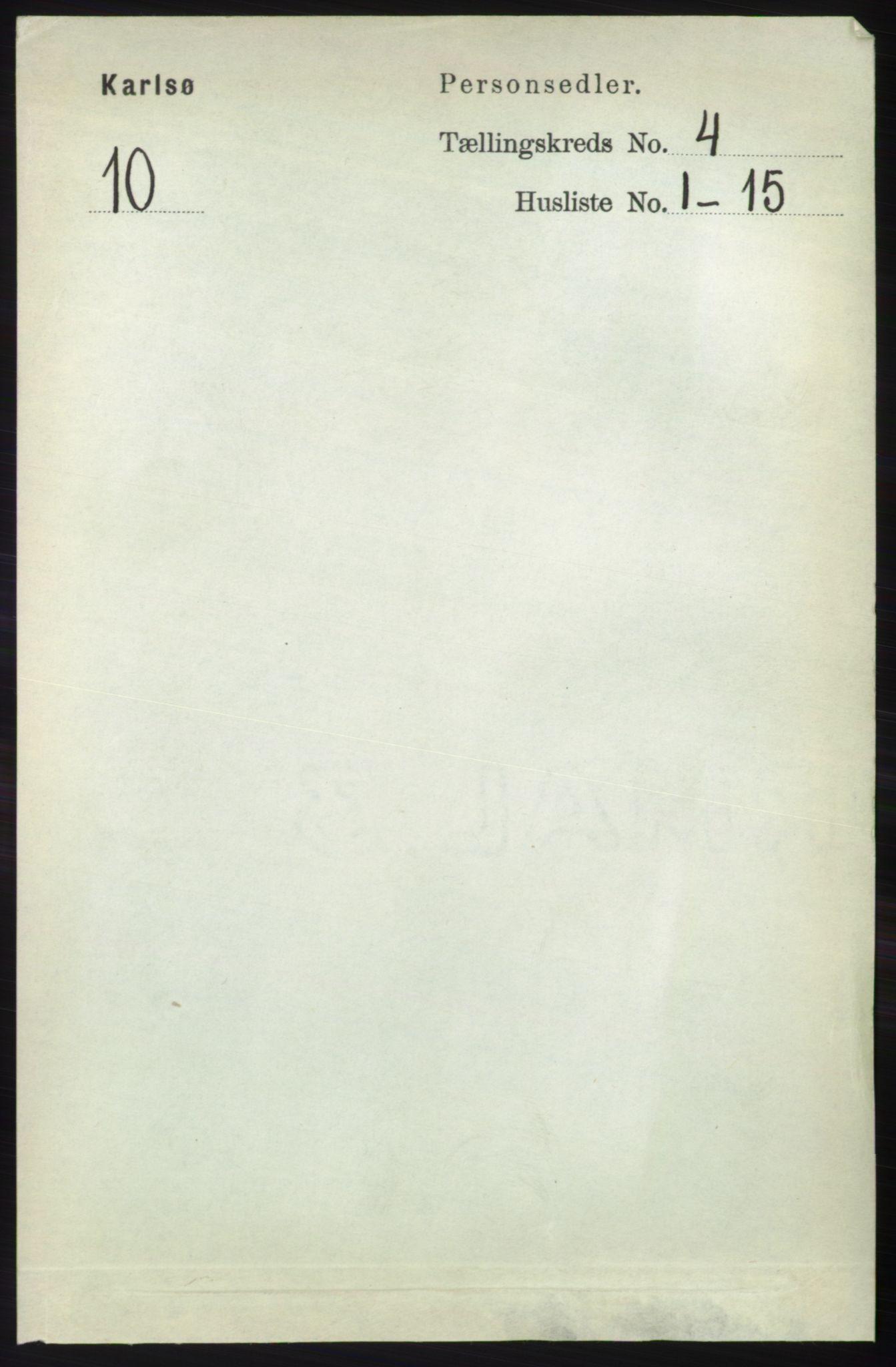RA, Folketelling 1891 for 1936 Karlsøy herred, 1891, s. 828