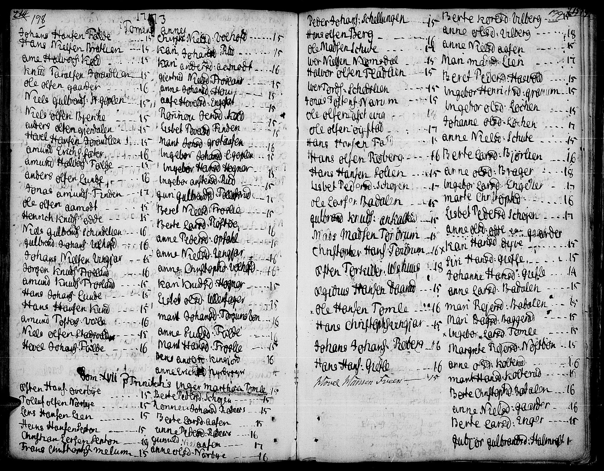 SAH, Land prestekontor, Ministerialbok nr. 5, 1765-1784, s. 198-199