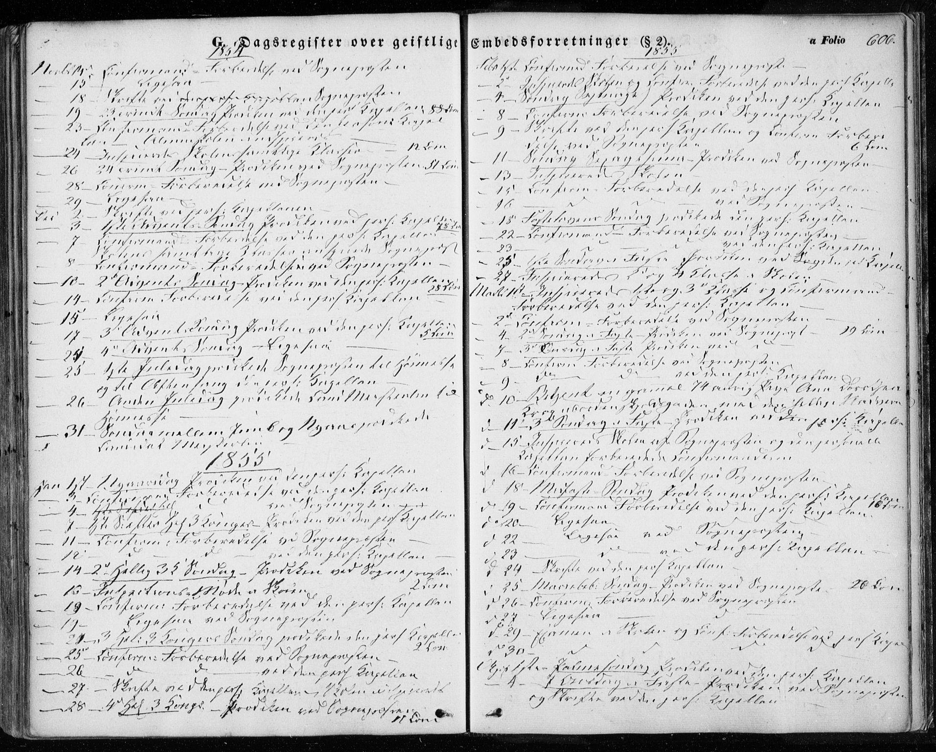 SAT, Ministerialprotokoller, klokkerbøker og fødselsregistre - Sør-Trøndelag, 601/L0051: Ministerialbok nr. 601A19, 1848-1857, s. 606
