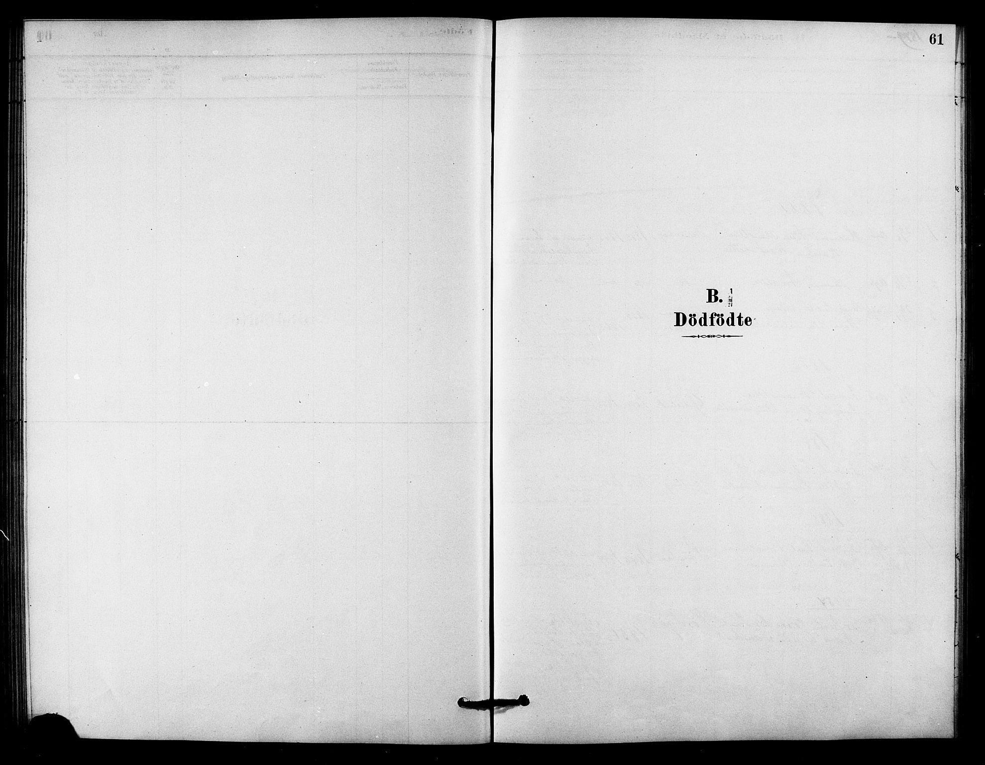 SAT, Ministerialprotokoller, klokkerbøker og fødselsregistre - Sør-Trøndelag, 656/L0692: Ministerialbok nr. 656A01, 1879-1893, s. 61