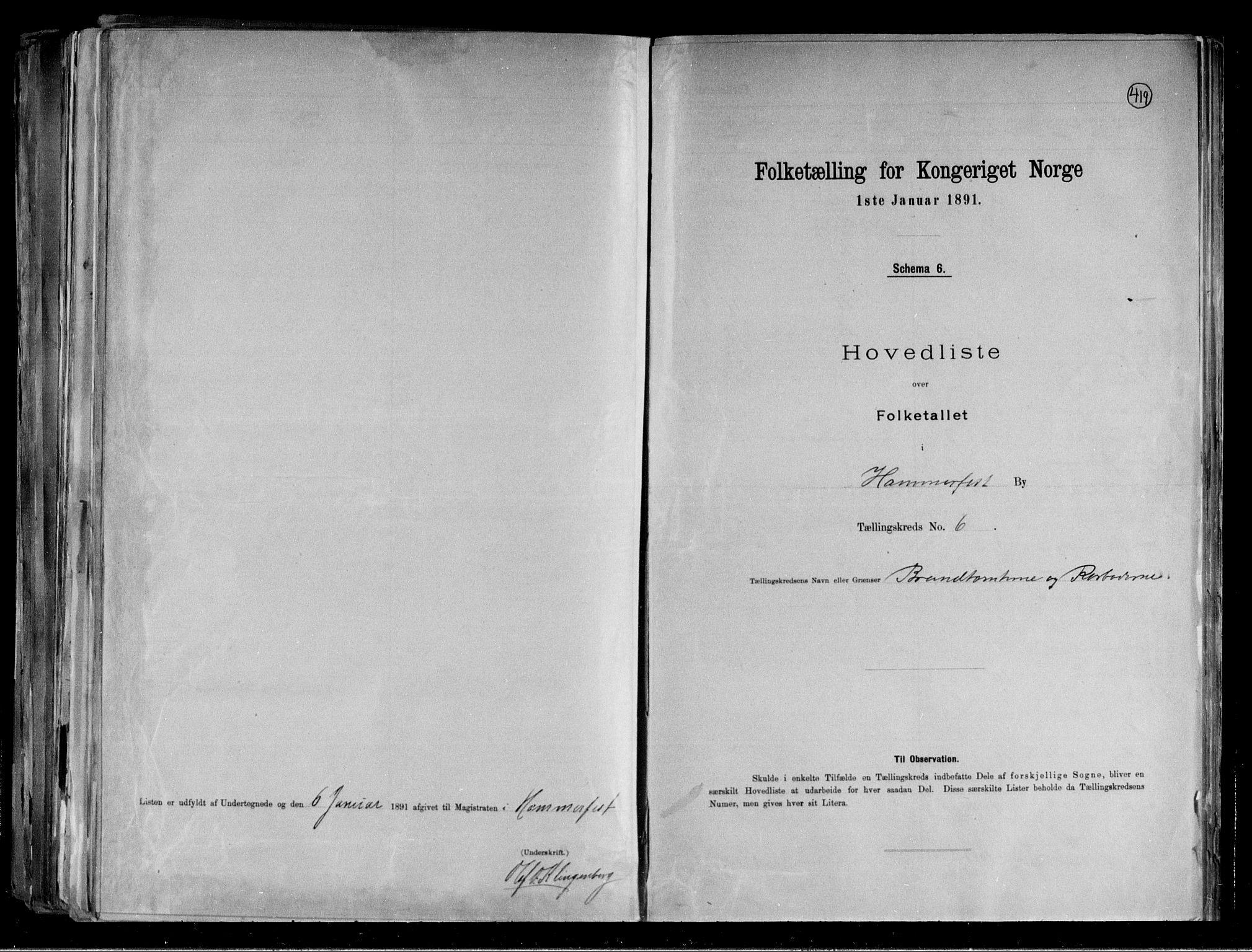 RA, Folketelling 1891 for 2001 Hammerfest kjøpstad, 1891, s. 15