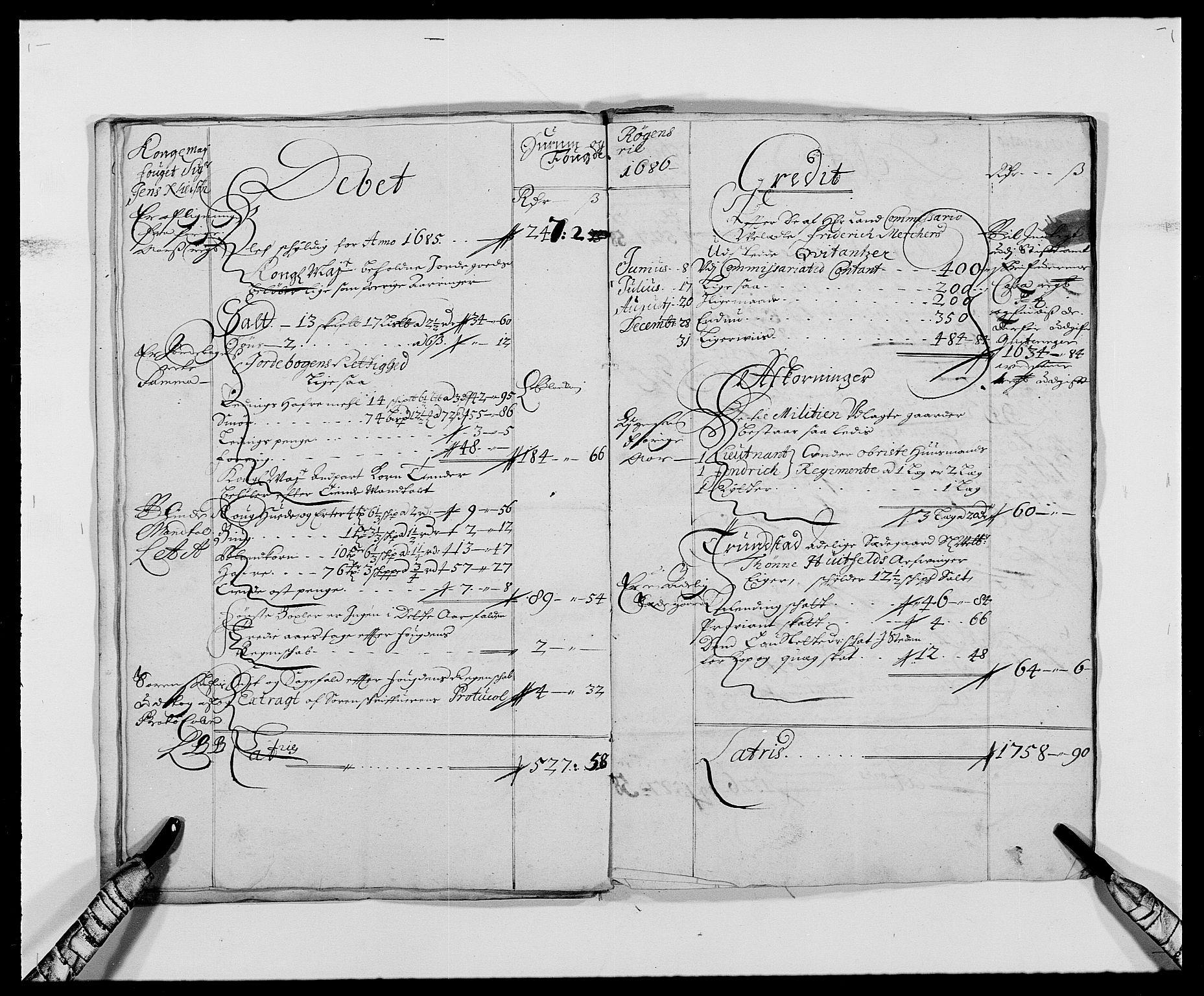RA, Rentekammeret inntil 1814, Reviderte regnskaper, Fogderegnskap, R29/L1692: Fogderegnskap Hurum og Røyken, 1682-1687, s. 15