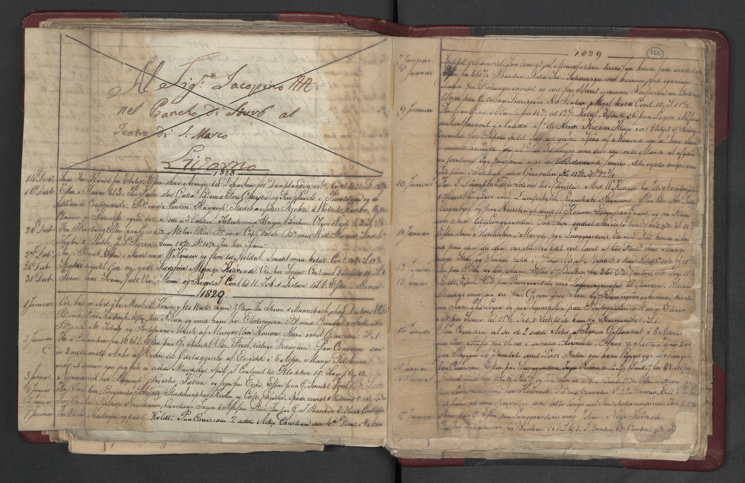 RA, Meltzer, Fredrik, F/L0003: Dagbok, 1821-1831, s. 165b-166a