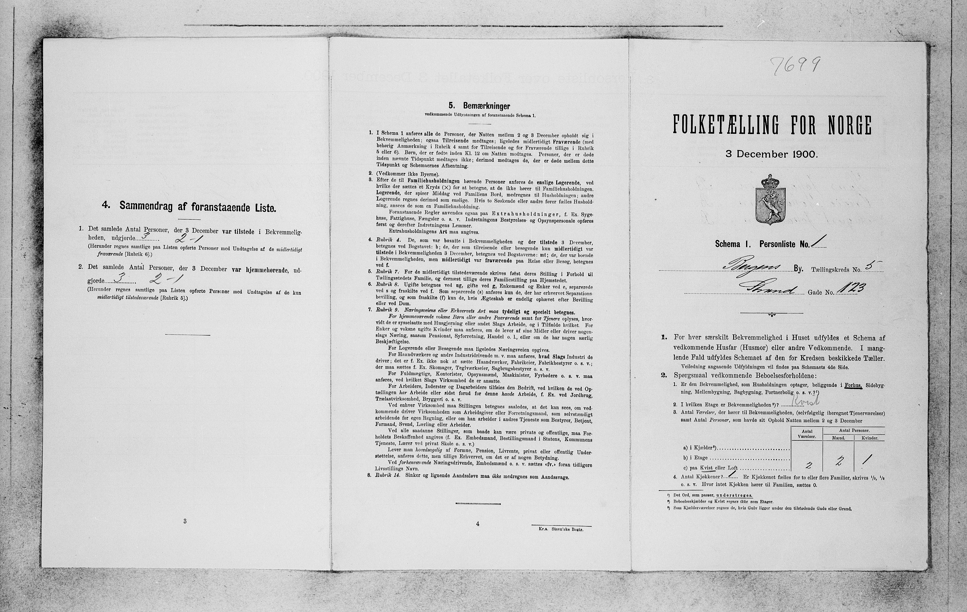 SAB, Folketelling 1900 for 1301 Bergen kjøpstad, 1900, s. 970