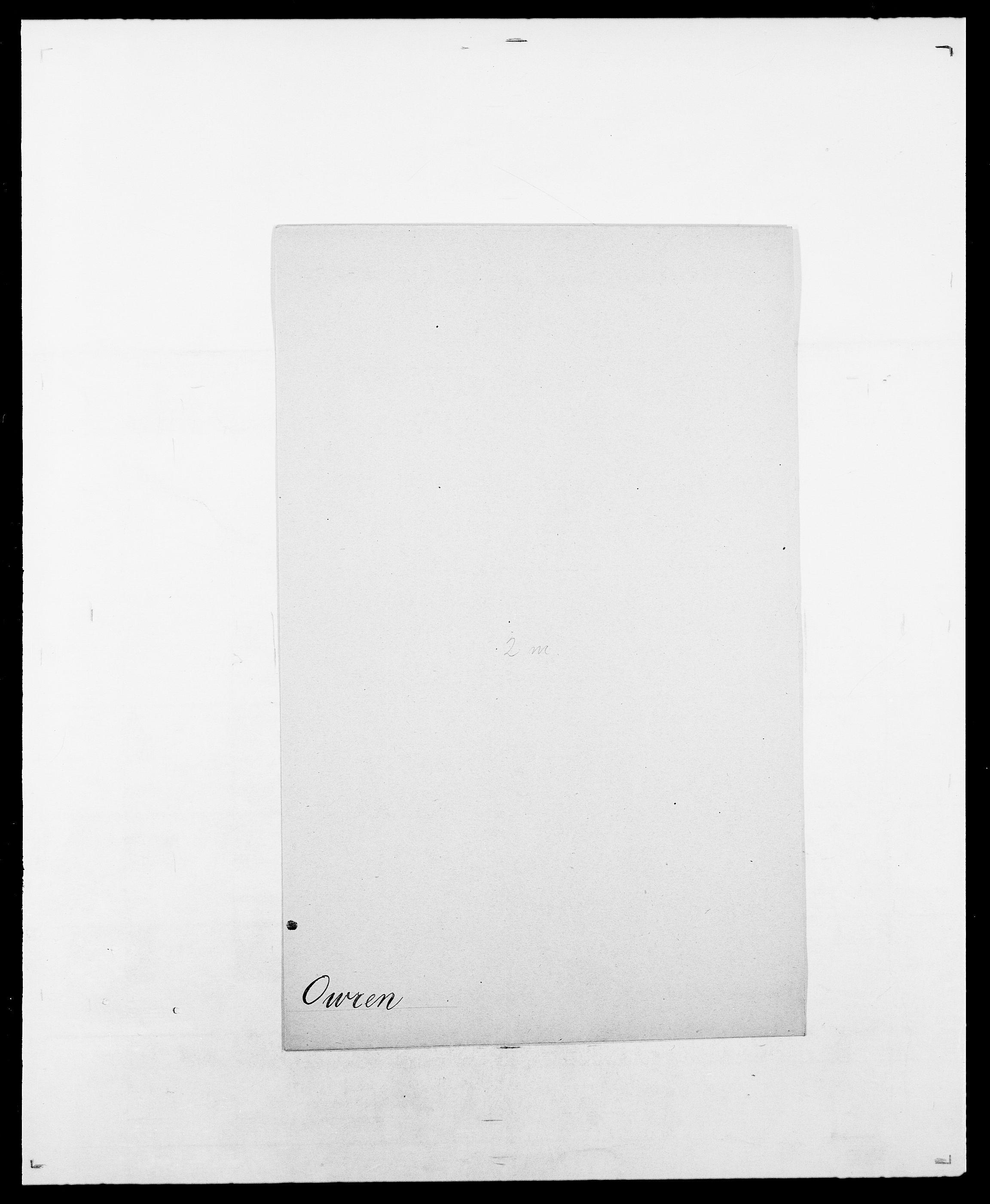 SAO, Delgobe, Charles Antoine - samling, D/Da/L0029: Obel - Oxholm, s. 500