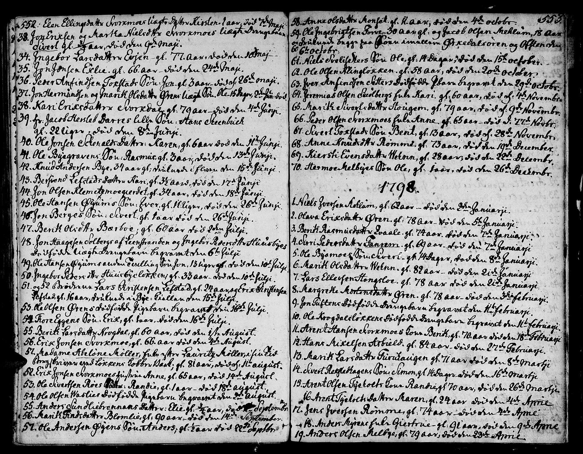 SAT, Ministerialprotokoller, klokkerbøker og fødselsregistre - Sør-Trøndelag, 668/L0802: Ministerialbok nr. 668A02, 1776-1799, s. 552-553