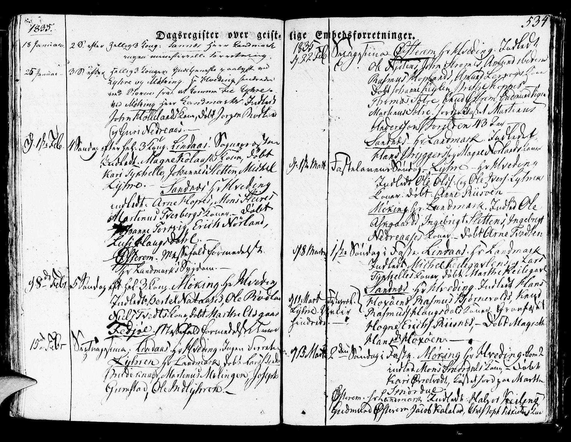 SAB, Lindås Sokneprestembete, H/Haa: Ministerialbok nr. A 8, 1823-1836, s. 534
