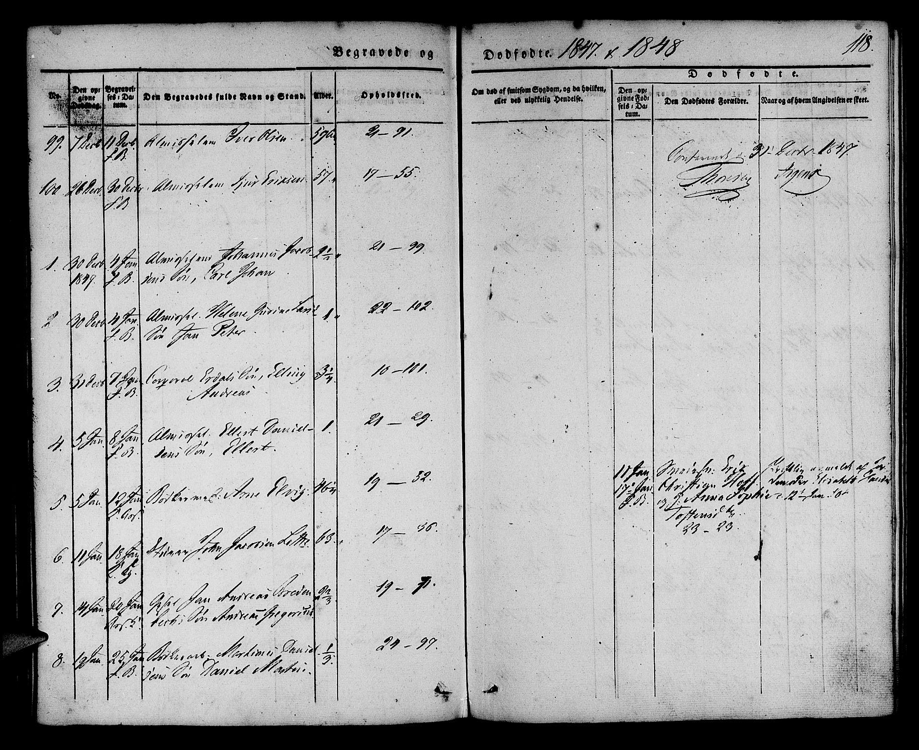 SAB, Korskirken Sokneprestembete, H/Haa/L0043: Ministerialbok nr. E 1, 1834-1848, s. 118