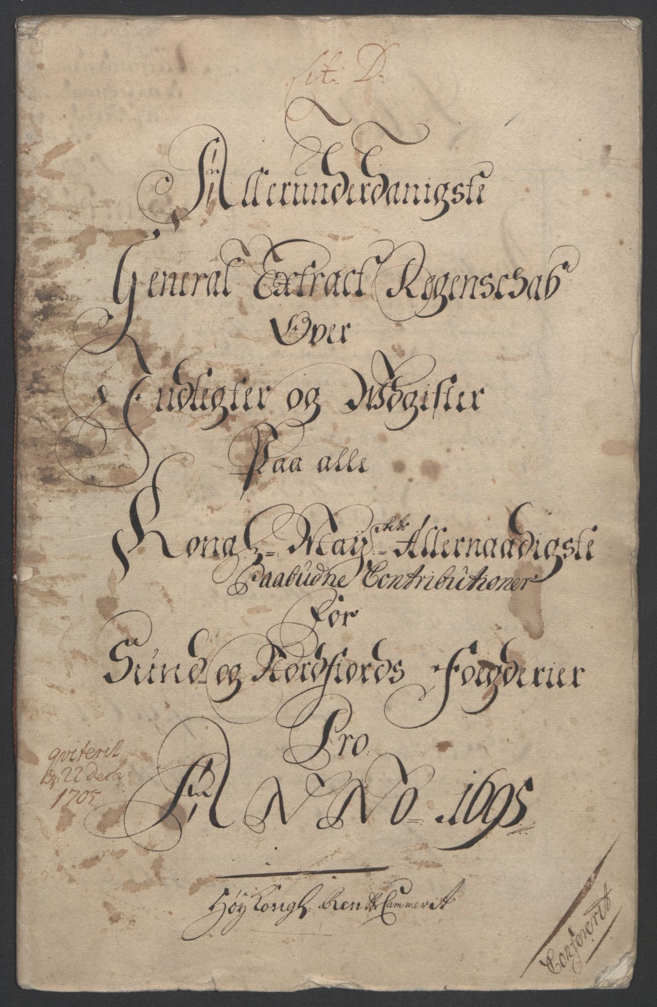 RA, Rentekammeret inntil 1814, Reviderte regnskaper, Fogderegnskap, R53/L3422: Fogderegnskap Sunn- og Nordfjord, 1695-1696, s. 4