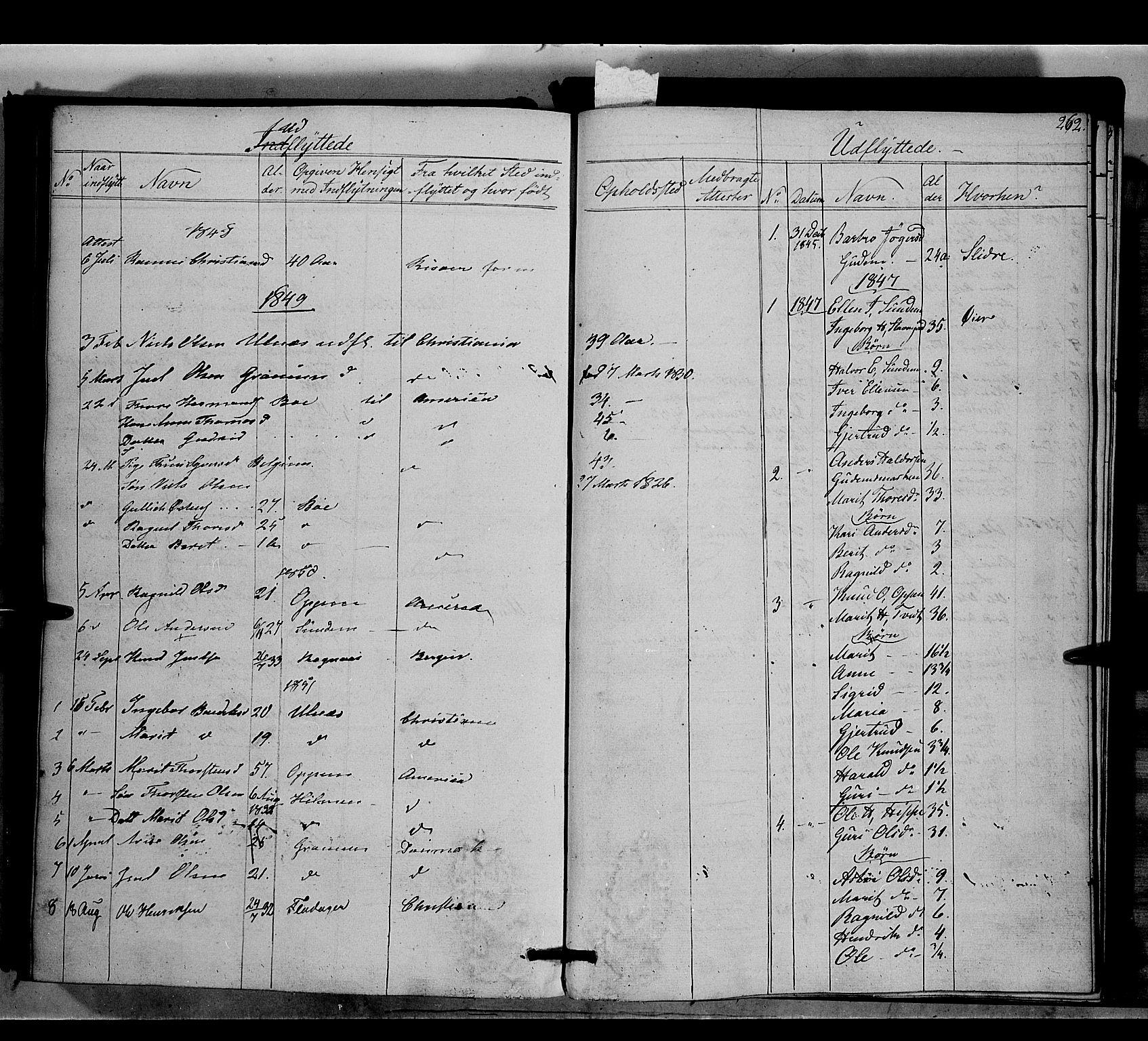SAH, Nord-Aurdal prestekontor, Ministerialbok nr. 6, 1842-1863, s. 262