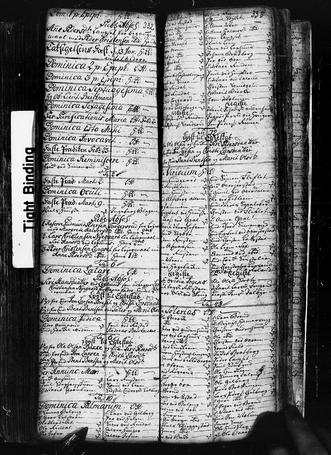 SAH, Fåberg prestekontor, Klokkerbok nr. 1, 1727-1767, s. 332-333