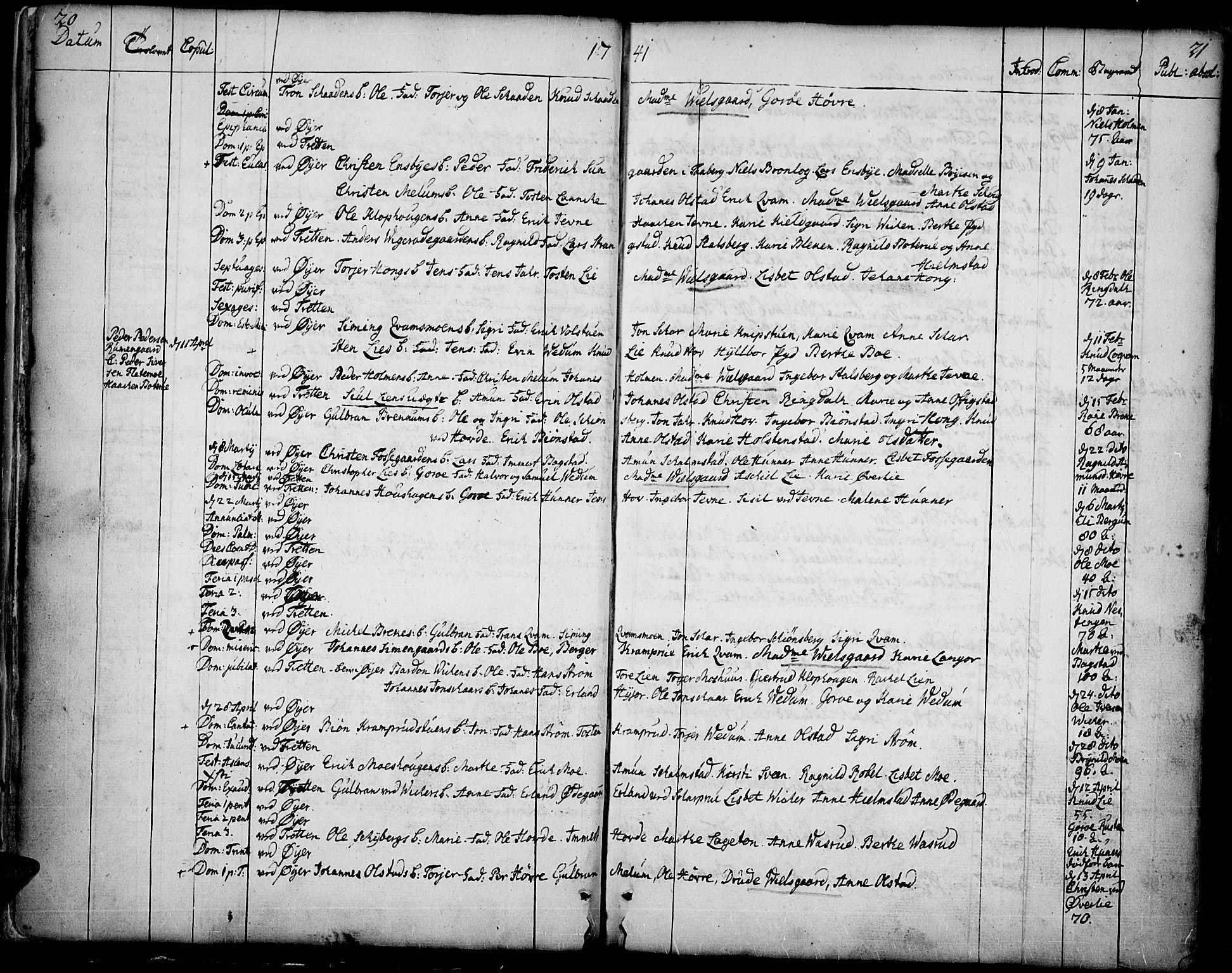 SAH, Øyer prestekontor, Ministerialbok nr. 2, 1733-1784, s. 20-21
