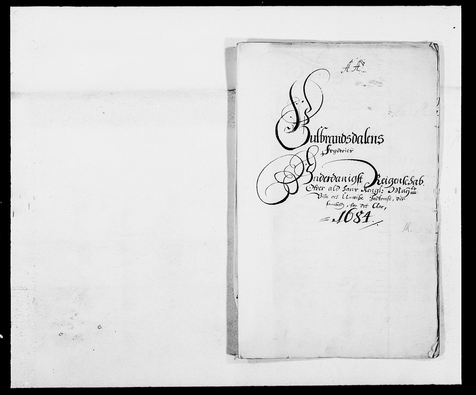 RA, Rentekammeret inntil 1814, Reviderte regnskaper, Fogderegnskap, R17/L1159: Fogderegnskap Gudbrandsdal, 1682-1689, s. 2