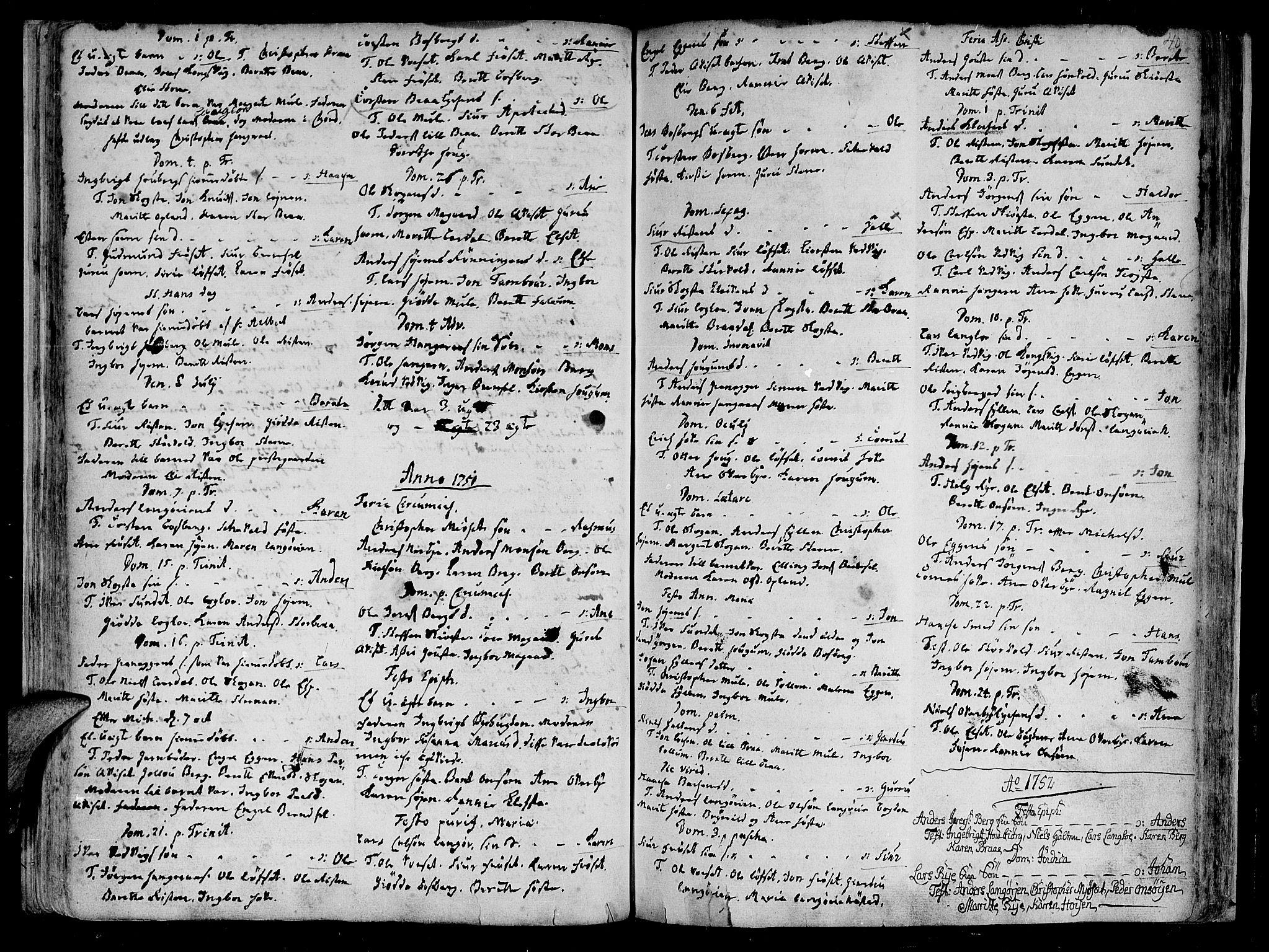 SAT, Ministerialprotokoller, klokkerbøker og fødselsregistre - Sør-Trøndelag, 612/L0368: Ministerialbok nr. 612A02, 1702-1753, s. 40