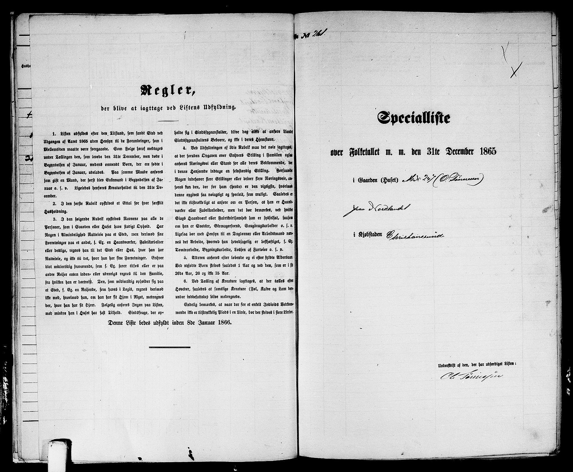 RA, Folketelling 1865 for 1503B Kristiansund prestegjeld, Kristiansund kjøpstad, 1865, s. 535