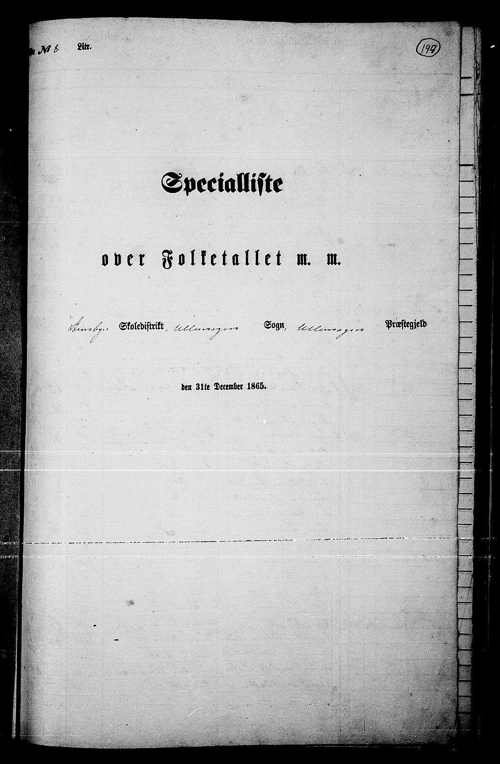 RA, Folketelling 1865 for 0235P Ullensaker prestegjeld, 1865, s. 166