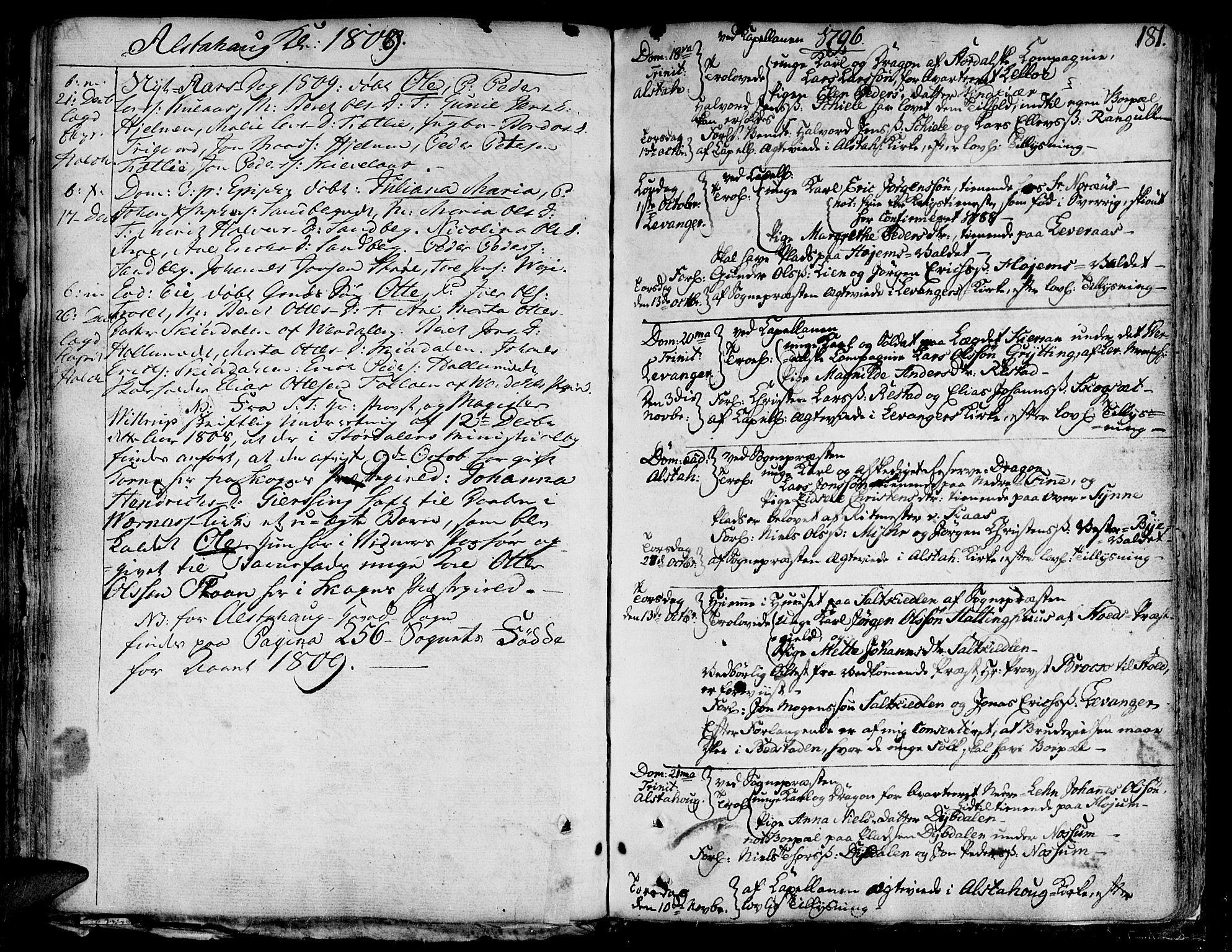 SAT, Ministerialprotokoller, klokkerbøker og fødselsregistre - Nord-Trøndelag, 717/L0142: Ministerialbok nr. 717A02 /1, 1783-1809, s. 181