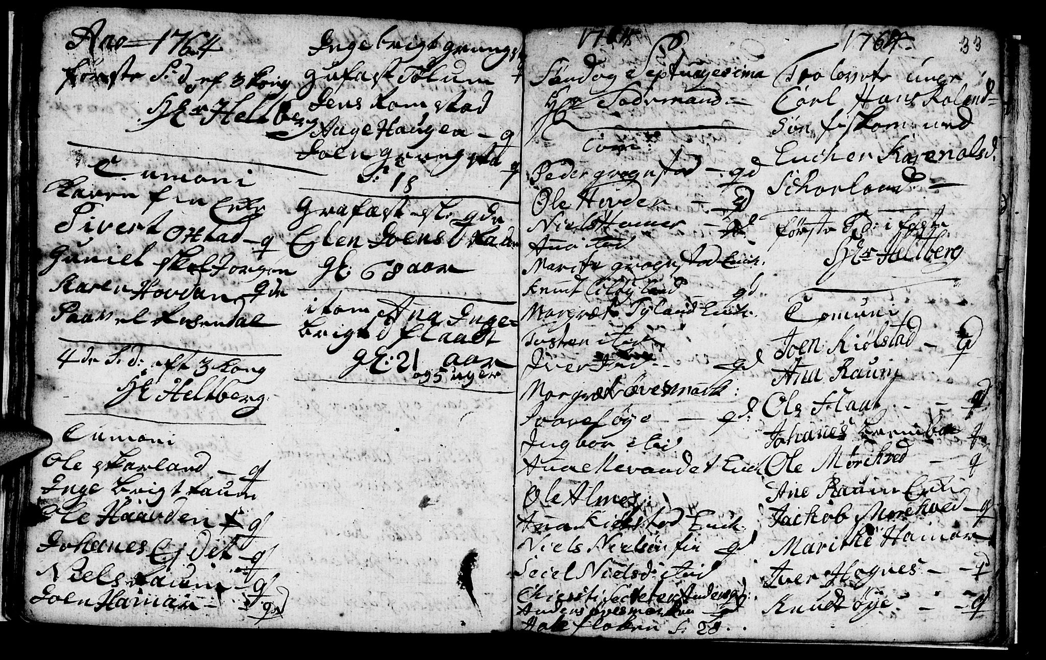 SAT, Ministerialprotokoller, klokkerbøker og fødselsregistre - Nord-Trøndelag, 765/L0561: Ministerialbok nr. 765A02, 1758-1765, s. 33