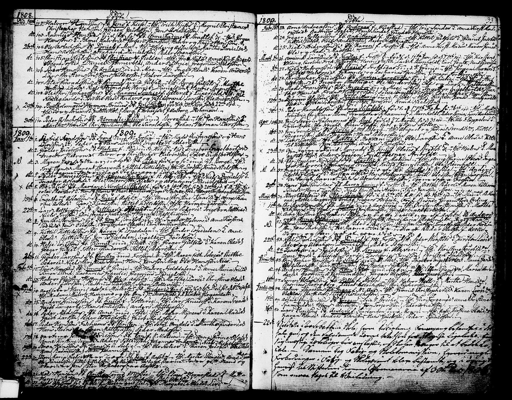 SAKO, Gjerpen kirkebøker, F/Fa/L0003: Ministerialbok nr. 3, 1796-1814, s. 33