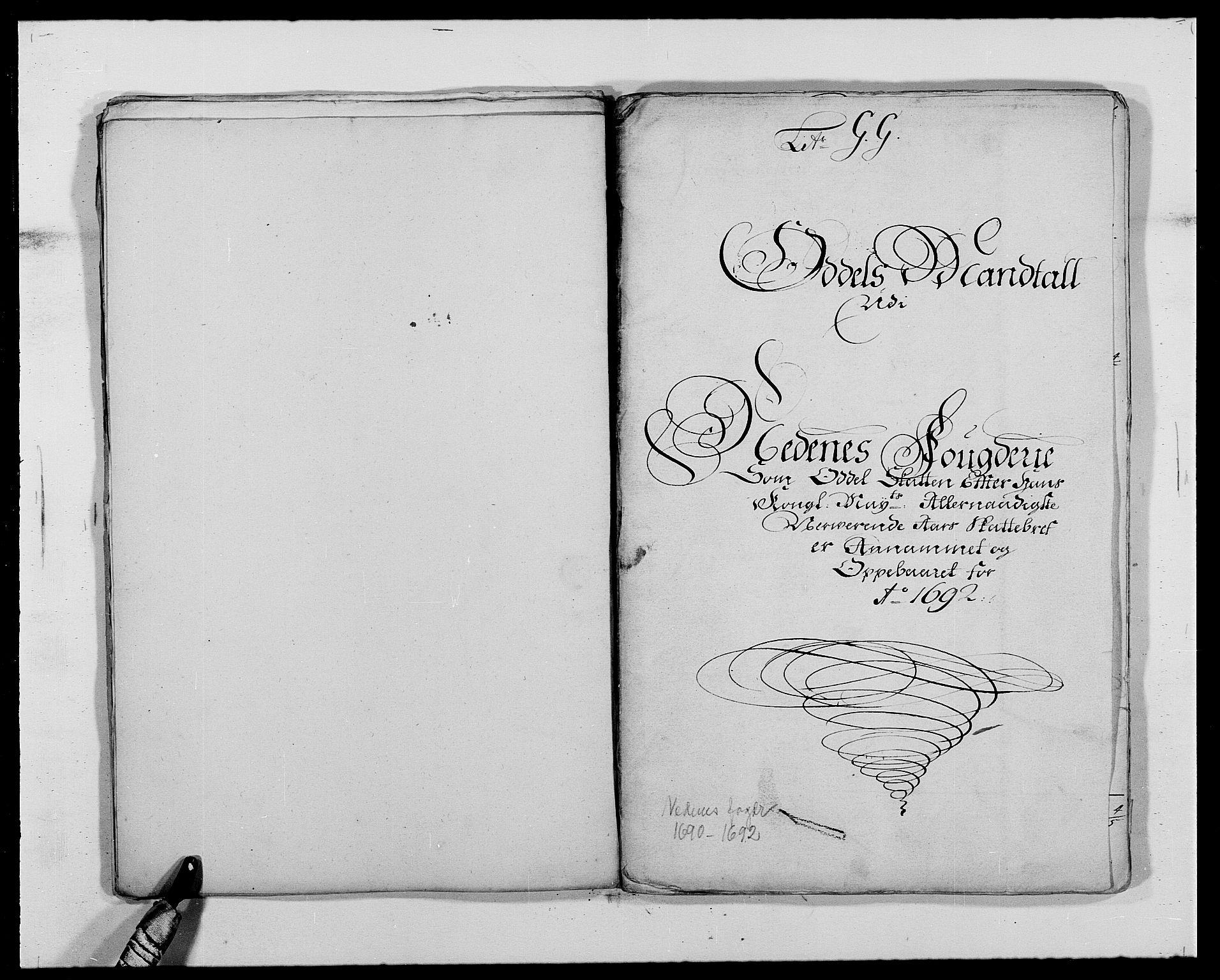 RA, Rentekammeret inntil 1814, Reviderte regnskaper, Fogderegnskap, R39/L2311: Fogderegnskap Nedenes, 1690-1692, s. 161