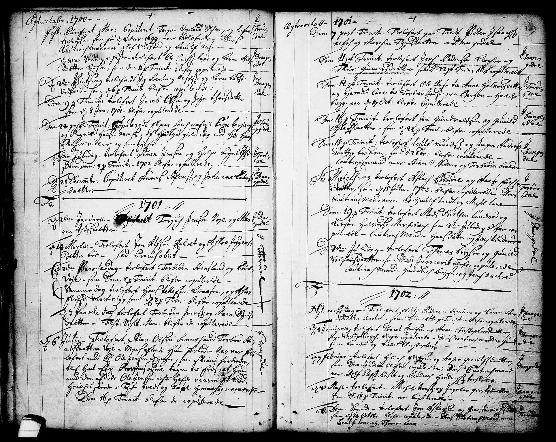 SAKO, Drangedal kirkebøker, F/Fa/L0001: Ministerialbok nr. 1, 1697-1767, s. 29