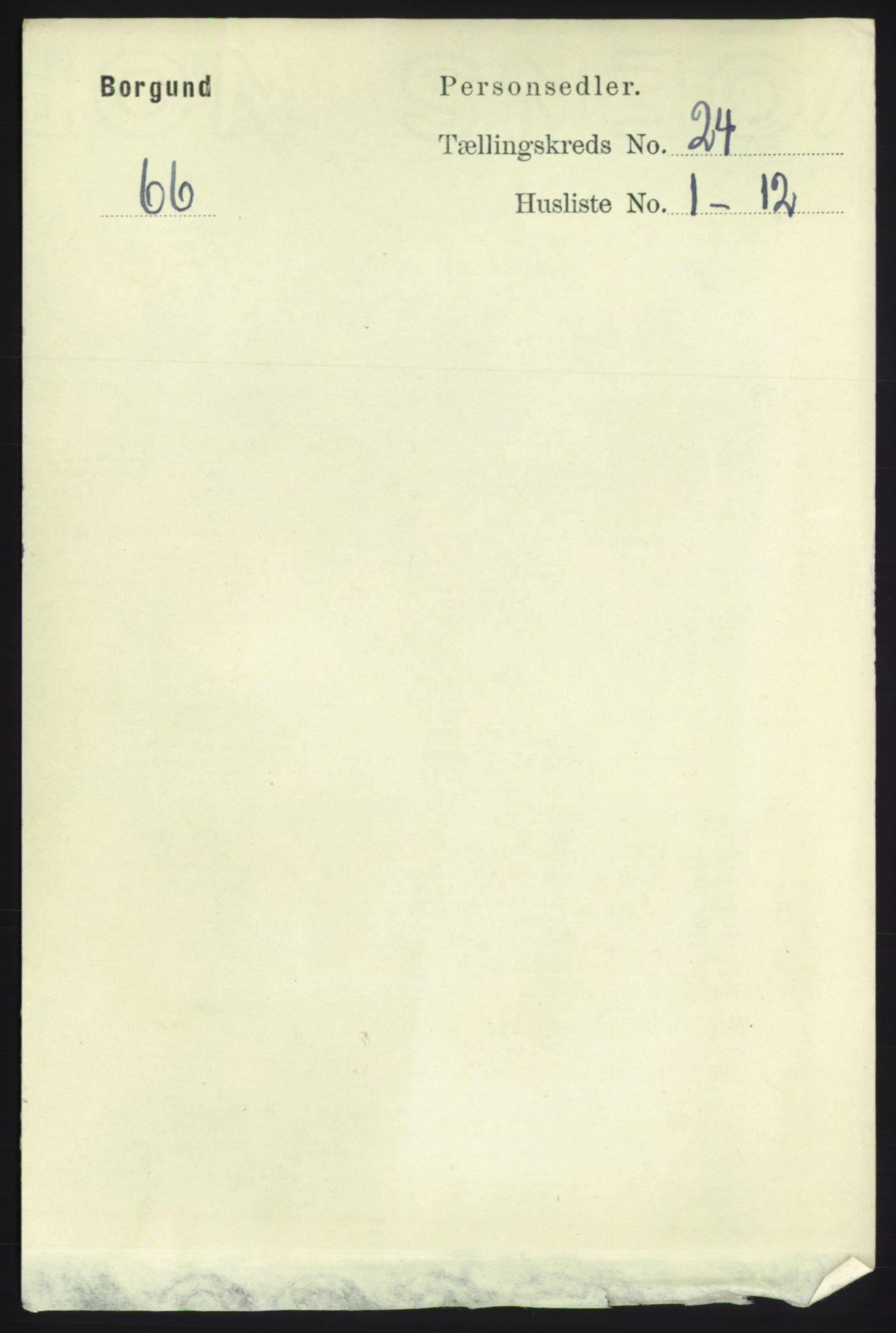 RA, Folketelling 1891 for 1531 Borgund herred, 1891, s. 7101