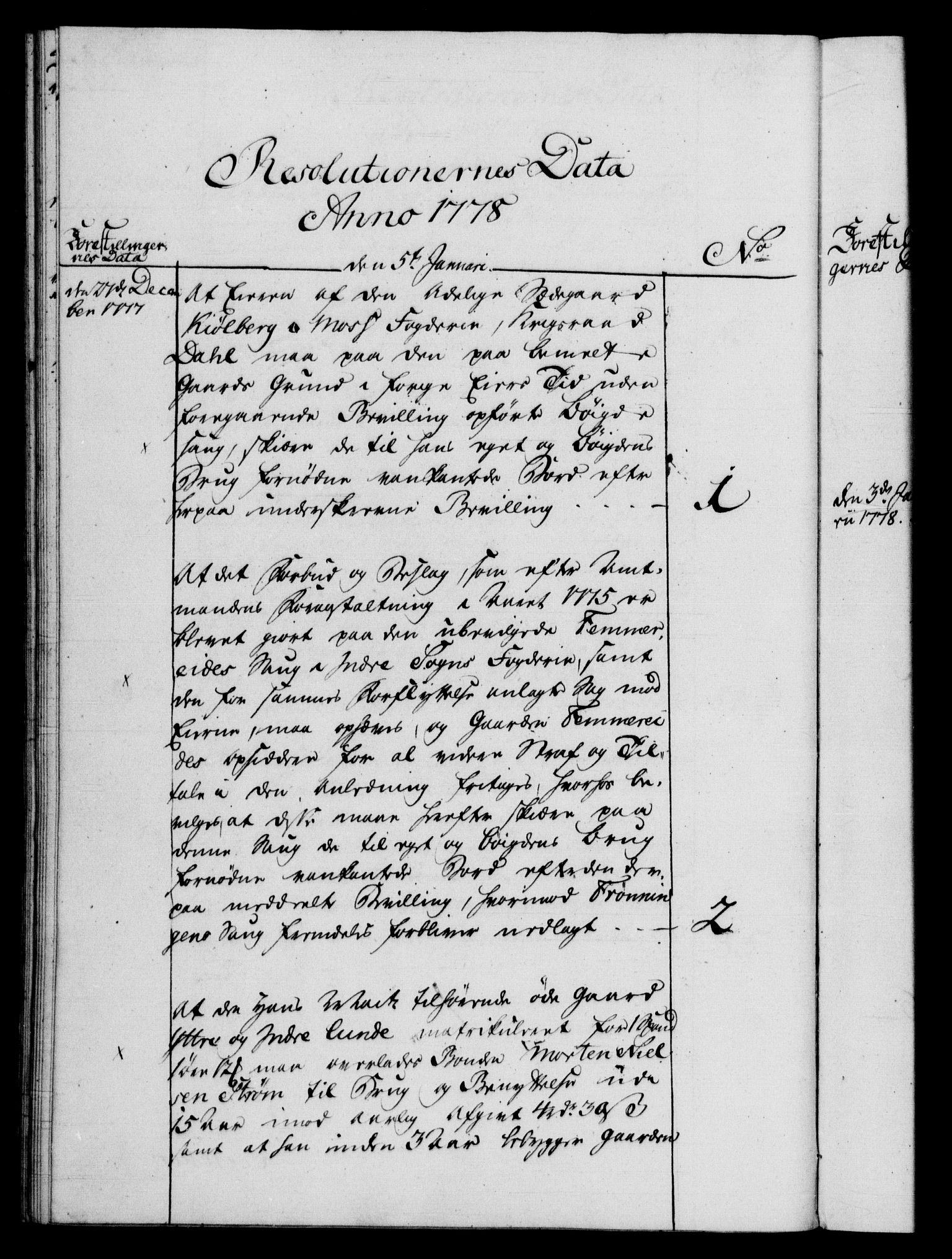RA, Rentekammeret, Kammerkanselliet, G/Gf/Gfb/L0009: Register til norske relasjons- og resolusjonsprotokoller (merket RK 52.104), 1773-1780, s. 116