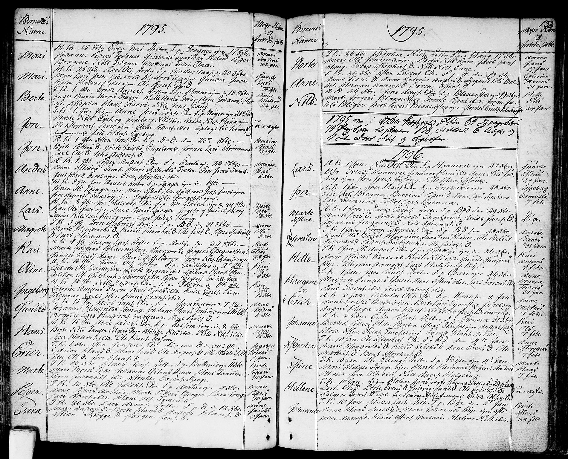SAO, Asker prestekontor Kirkebøker, F/Fa/L0003: Ministerialbok nr. I 3, 1767-1807, s. 133