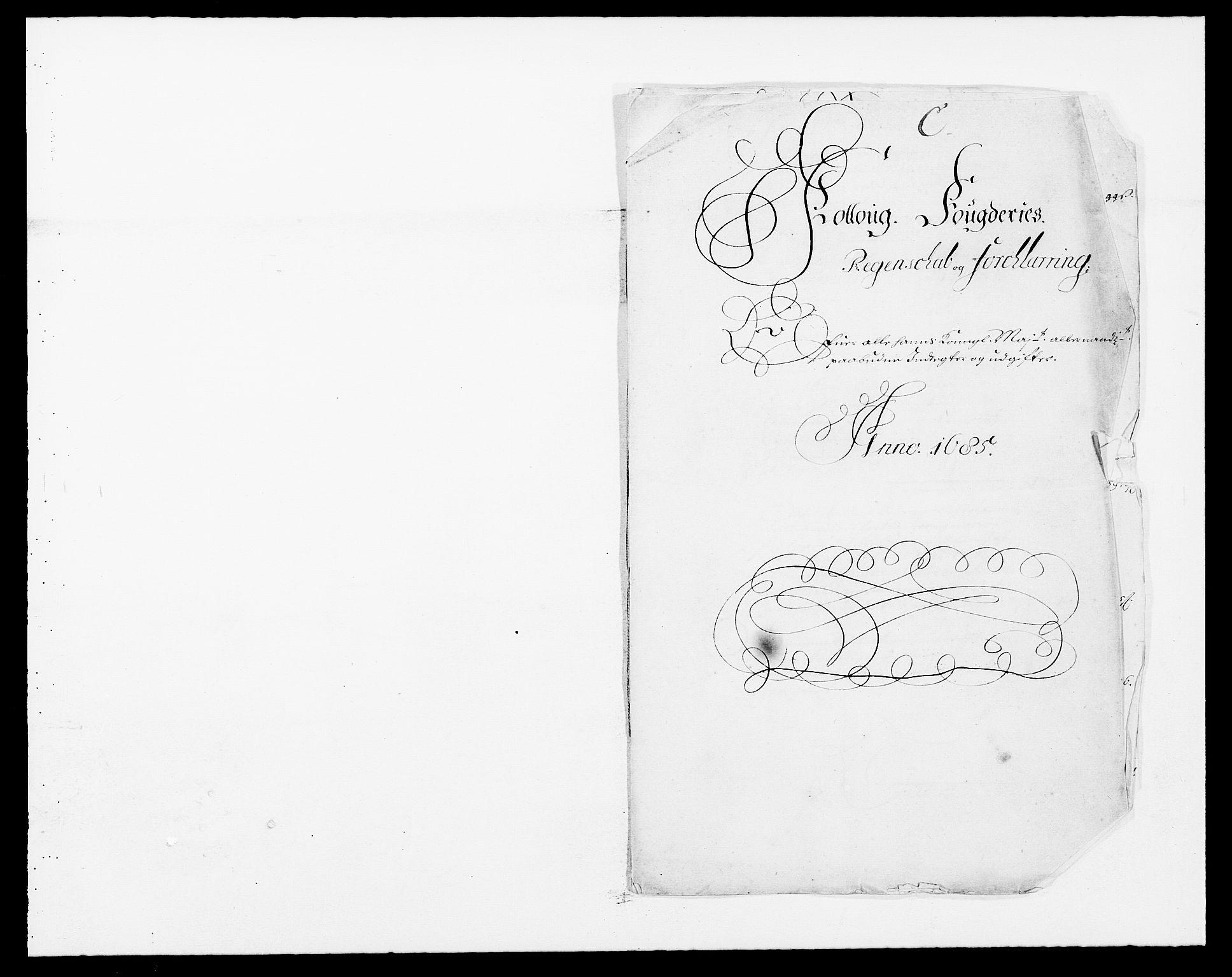 RA, Rentekammeret inntil 1814, Reviderte regnskaper, Fogderegnskap, R09/L0433: Fogderegnskap Follo, 1685-1686, s. 2