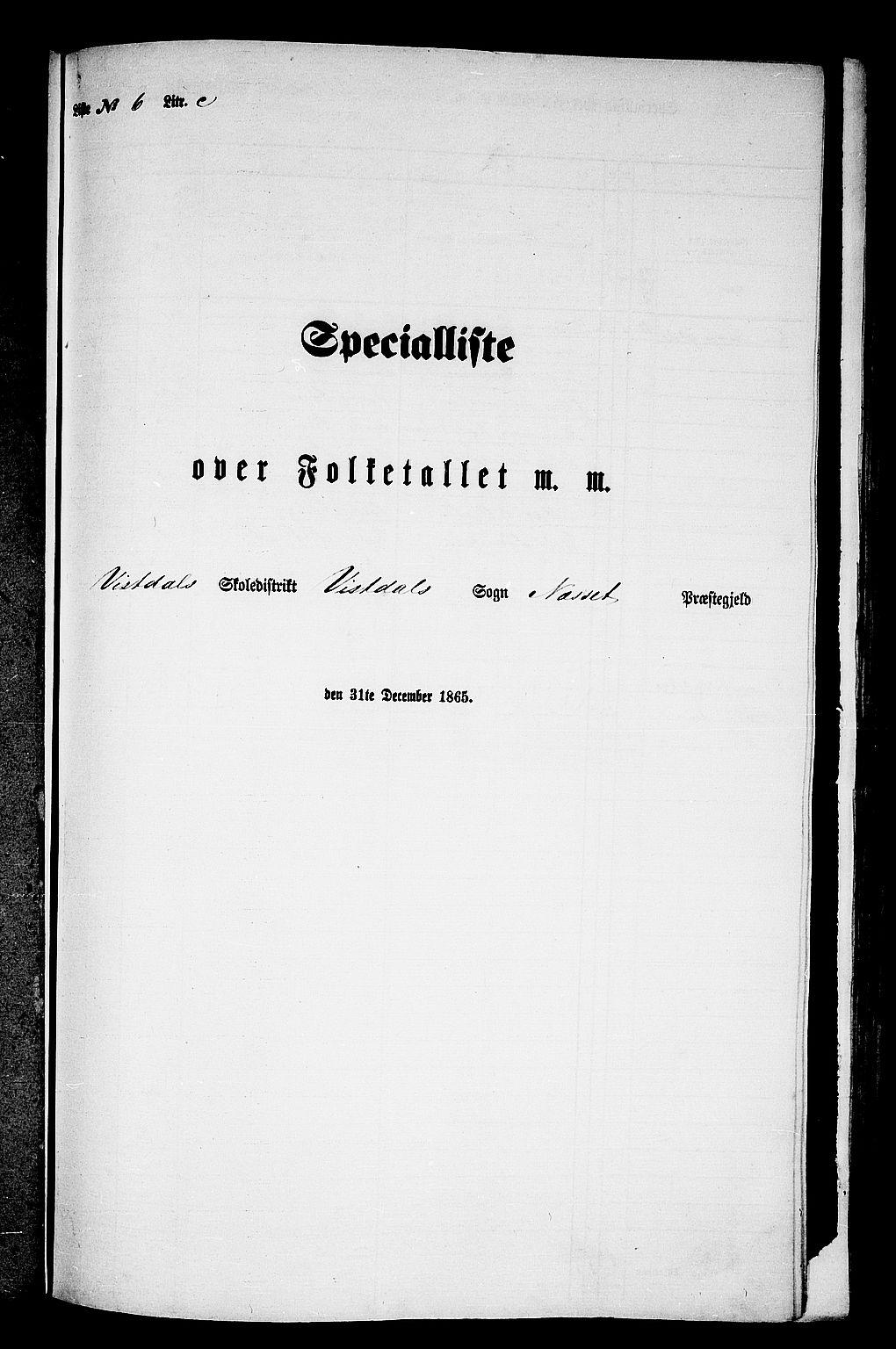 RA, Folketelling 1865 for 1543P Nesset prestegjeld, 1865, s. 147